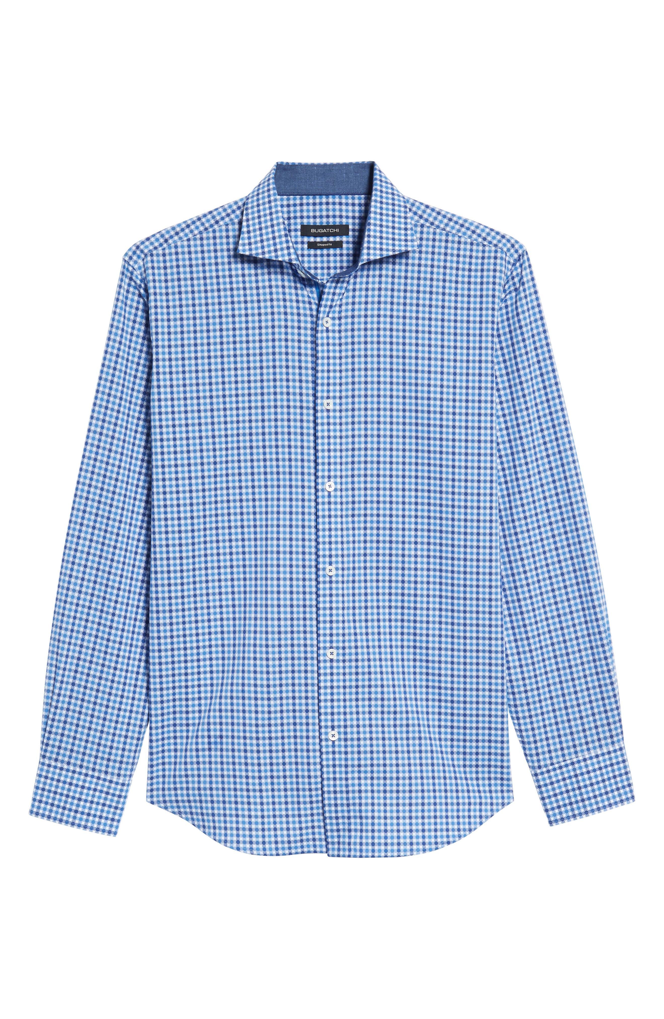 Classic Fit Dot Check Sport Shirt,                             Alternate thumbnail 6, color,                             420