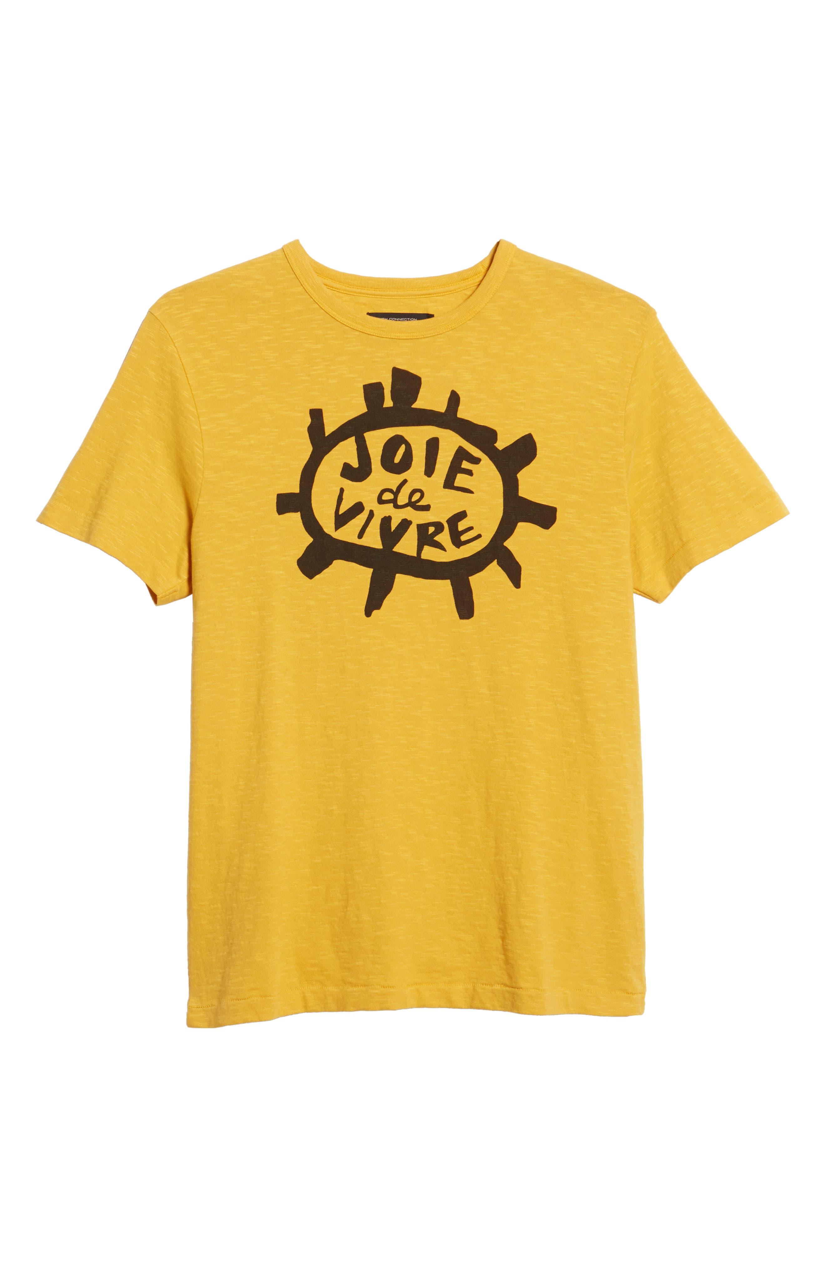 Joy of Living Slubbed T-Shirt,                             Alternate thumbnail 6, color,                             CALLUNA YELLOW BLACK