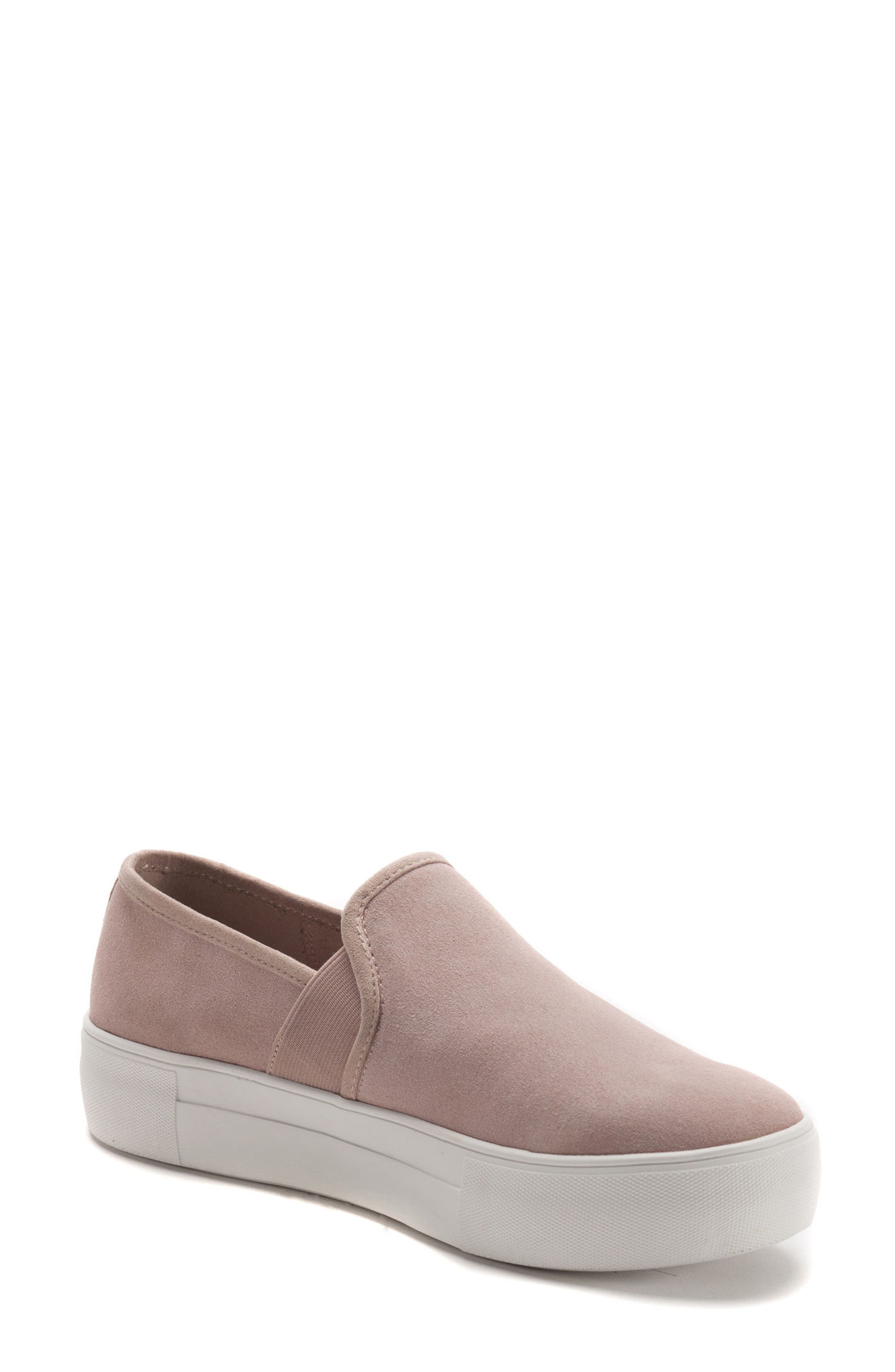 Glance Waterproof Sneaker,                             Main thumbnail 1, color,                             LIGHT PINK SUEDE