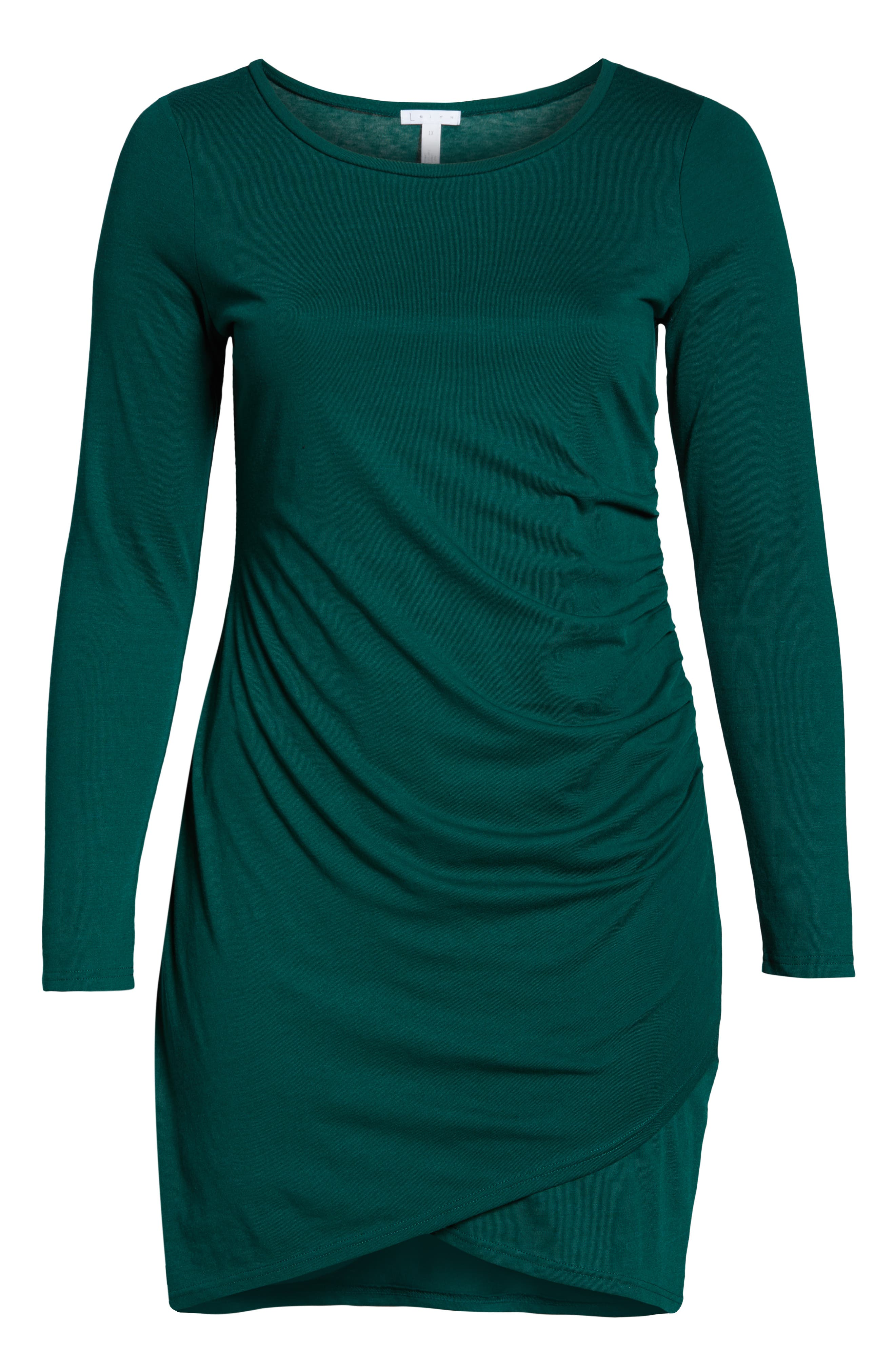 Ruched Body-Con Dress,                             Alternate thumbnail 7, color,                             GREEN BOTANICAL
