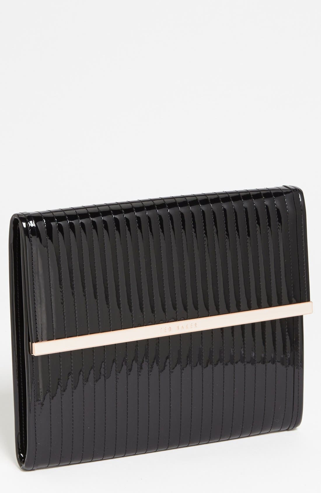 TED BAKER LONDON Quilted iPad Sleeve, Main, color, 001