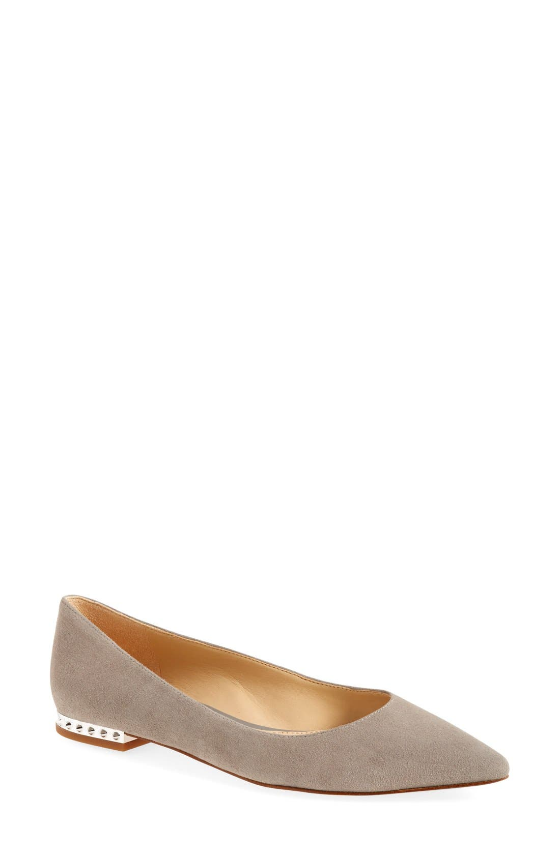 'Reyanne' Spike Rand Pointy Toe Flat,                             Main thumbnail 3, color,