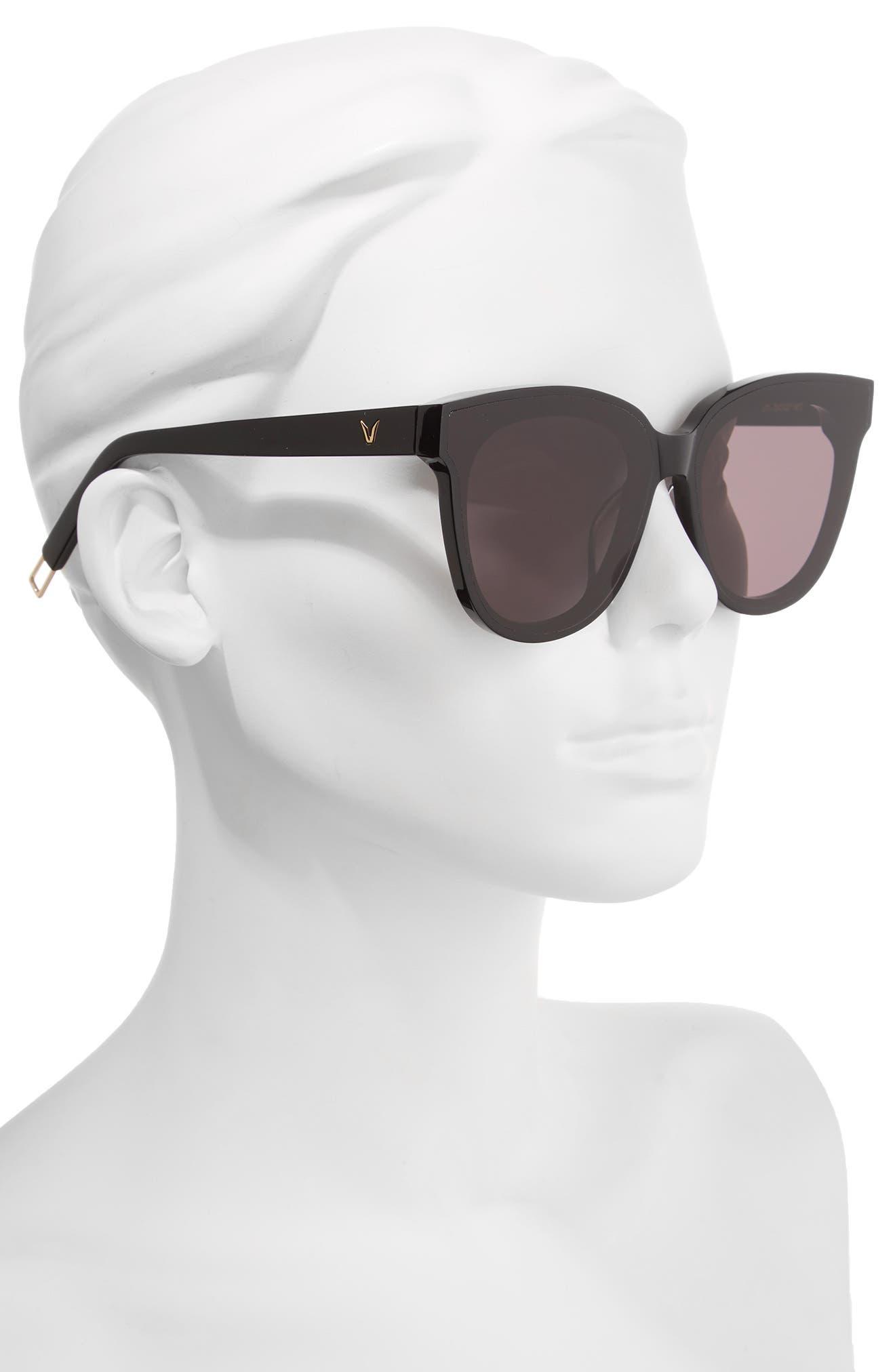 In Scarlet 68mm Oversize Cat Eye Sunglasses,                             Alternate thumbnail 2, color,                             001