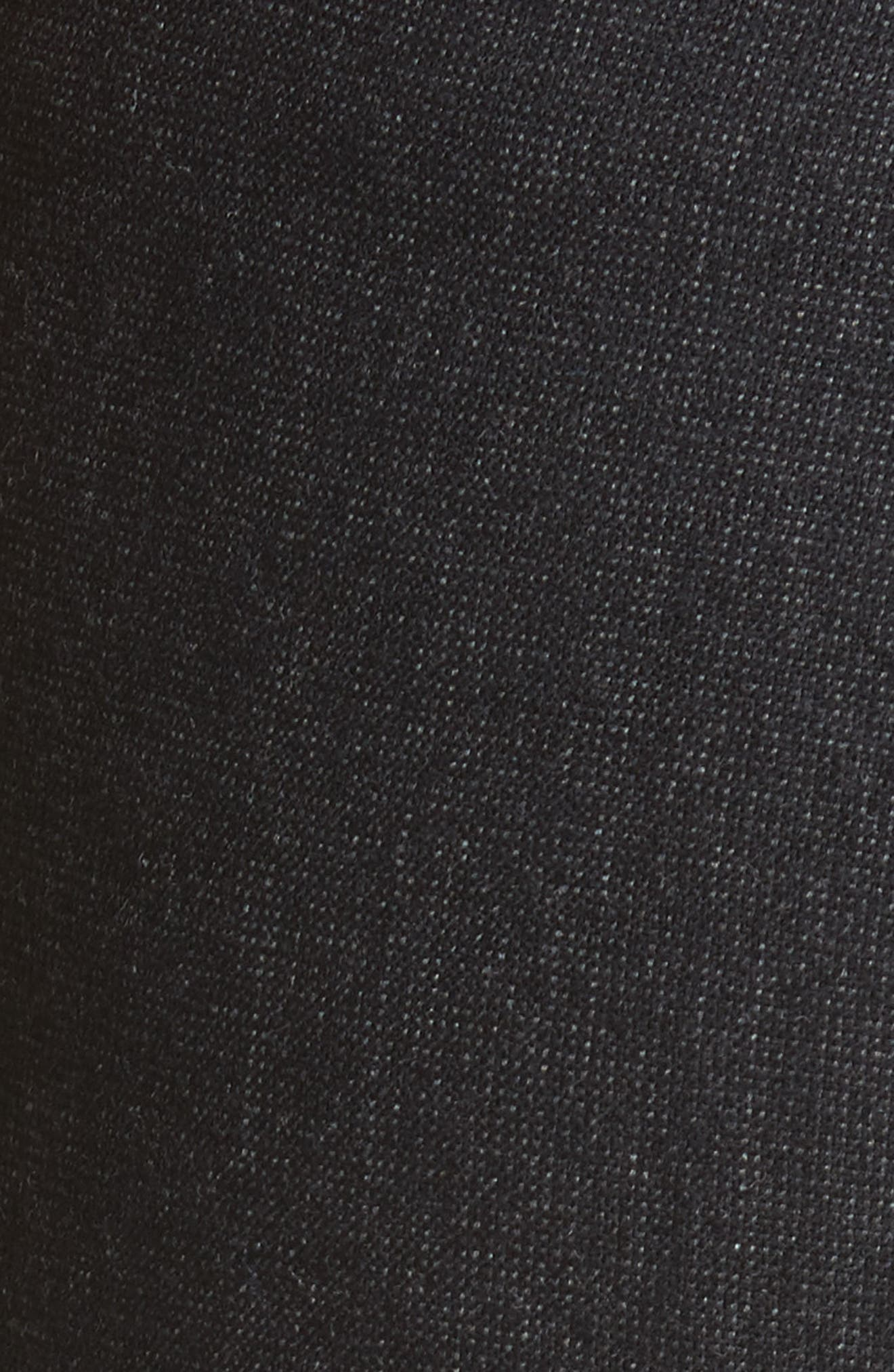 Armani Jeans Stretch Wool Slim Pants,                             Alternate thumbnail 5, color,                             001