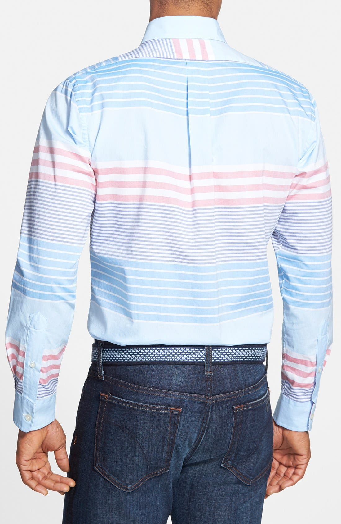 'Tucker - Oceaneer Stripe' Slim Fit Sport Shirt,                             Alternate thumbnail 2, color,                             456
