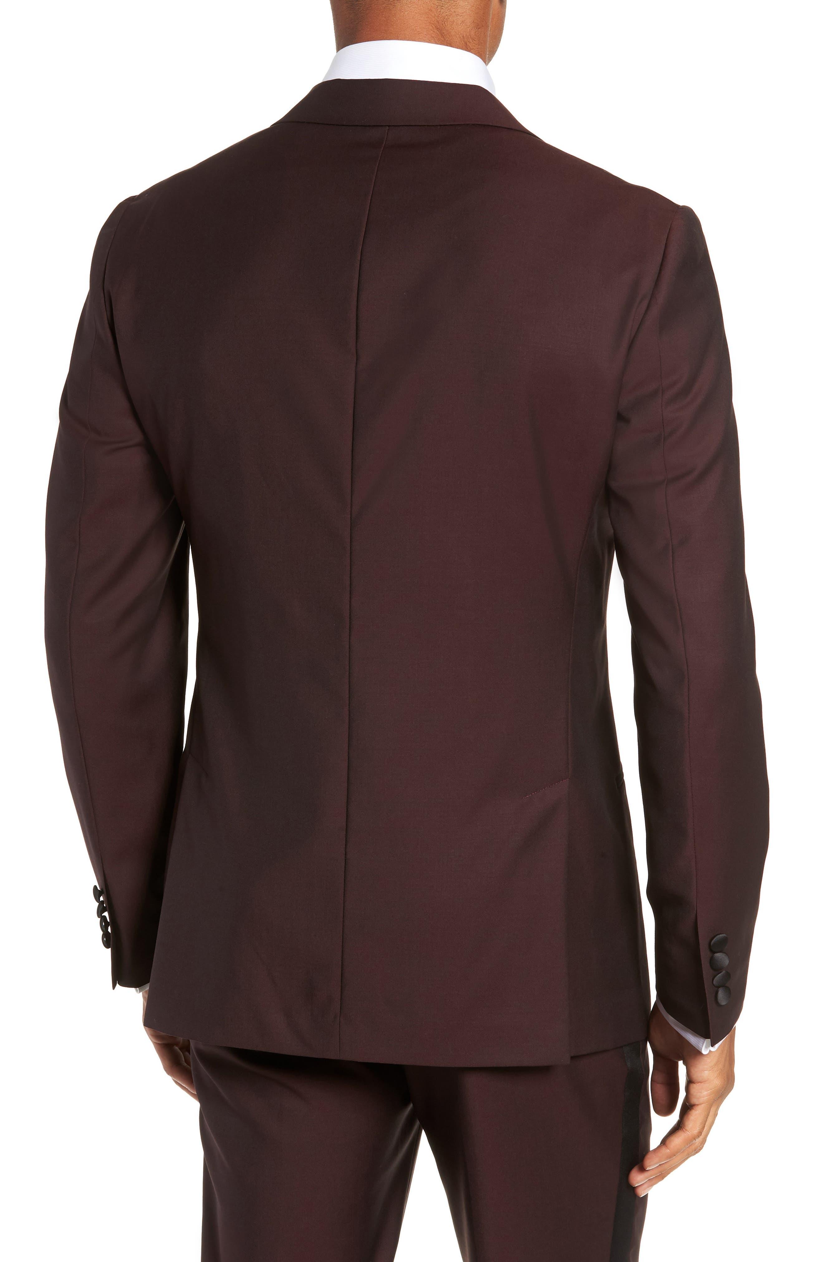 Capstone Slim Fit Italian Wool Dinner Jacket,                             Alternate thumbnail 2, color,                             MAROON