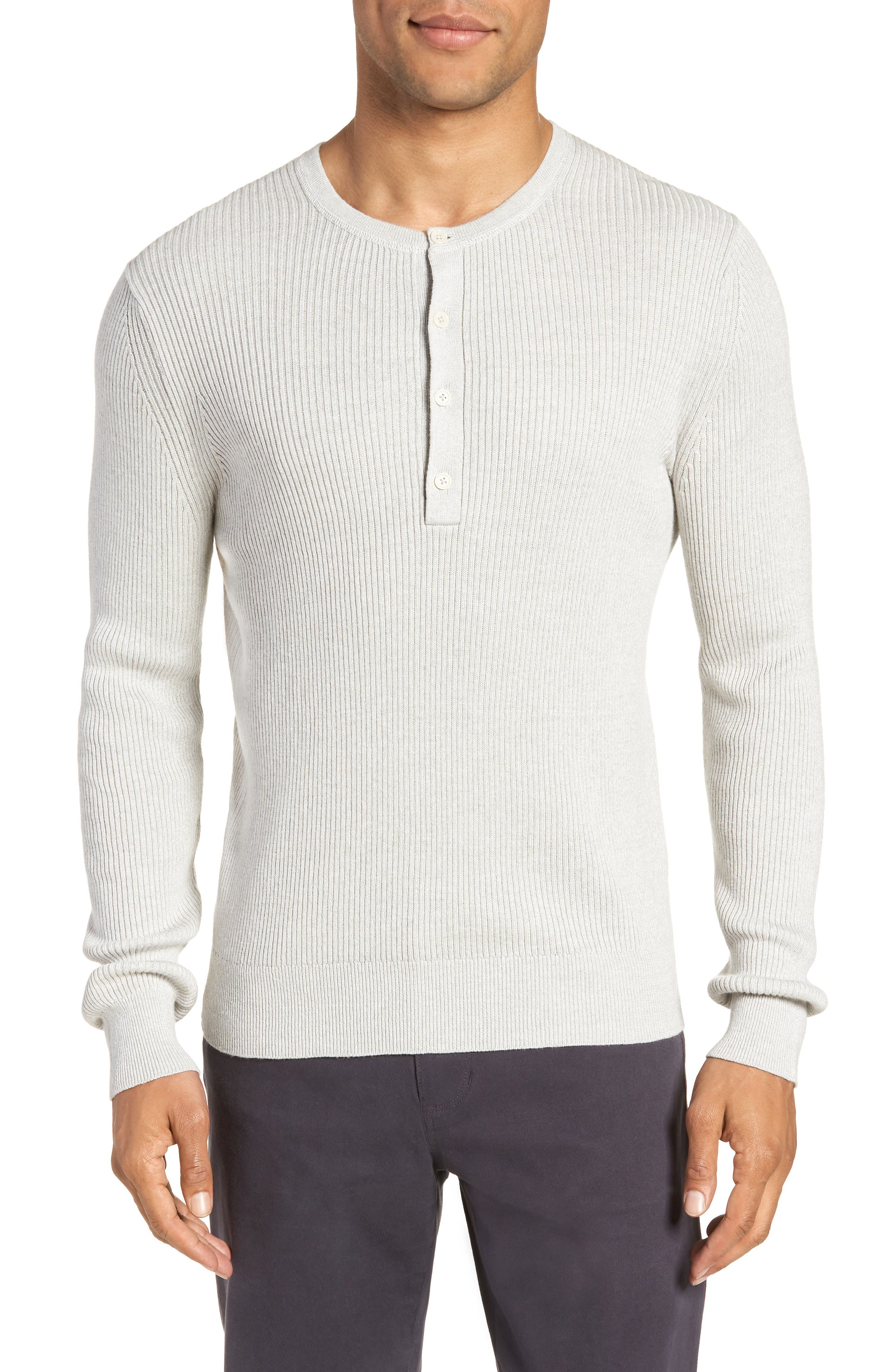 Ribbed Henley,                         Main,                         color, 099