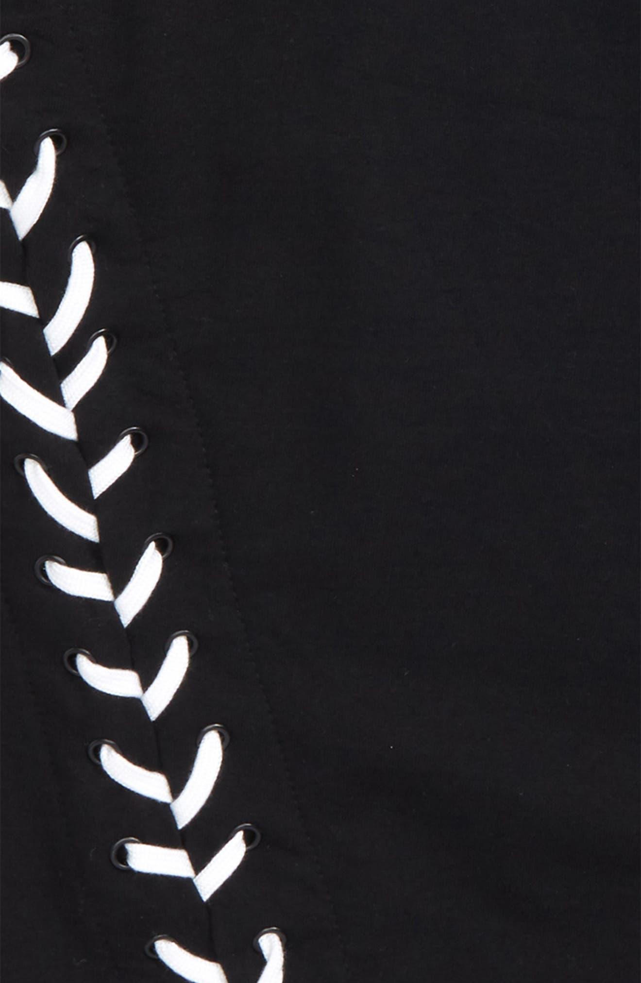 Adorn Sweatshirt Dress,                             Alternate thumbnail 3, color,                             001