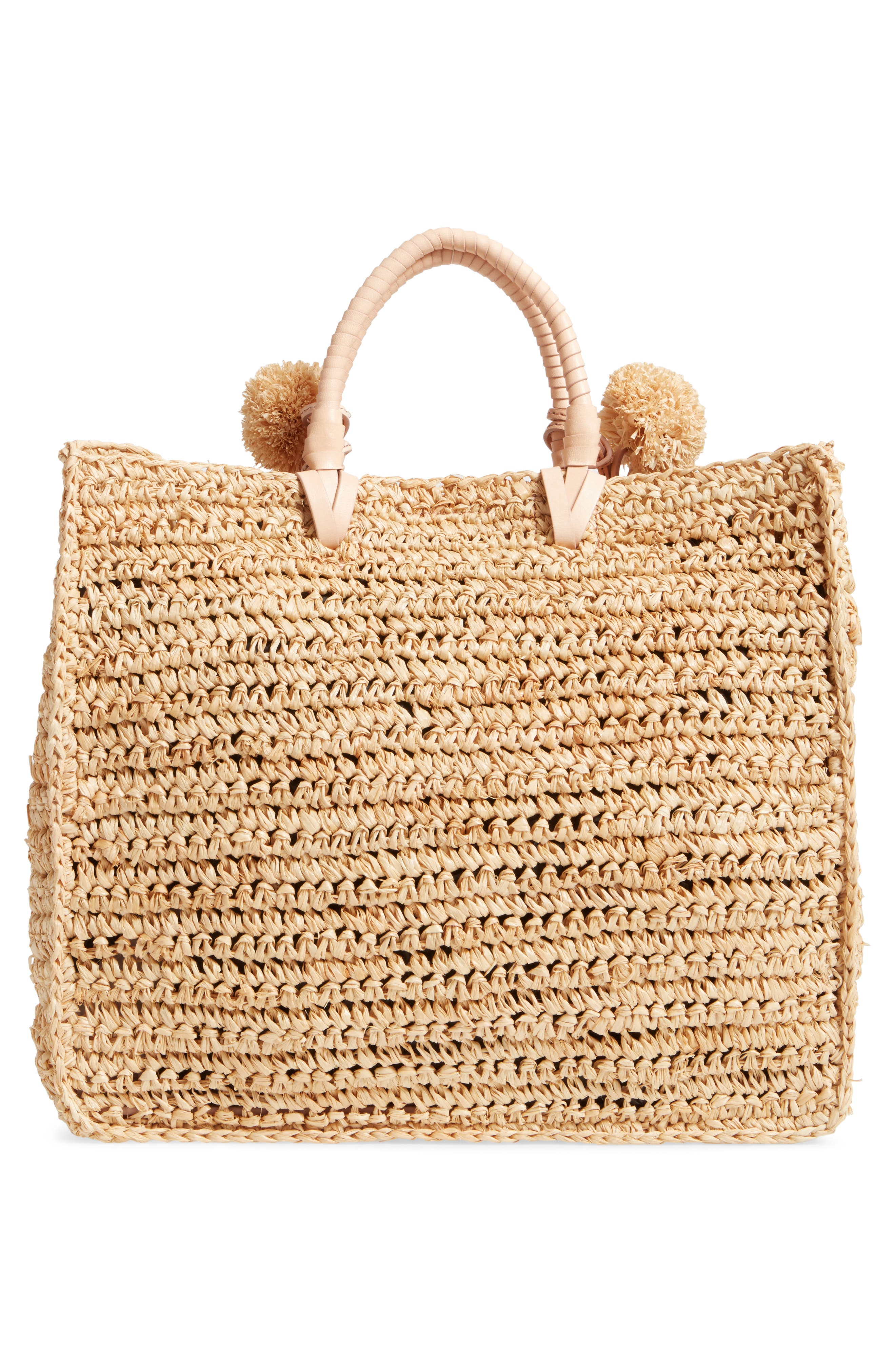 Straw Travel Tote,                             Alternate thumbnail 3, color,                             107