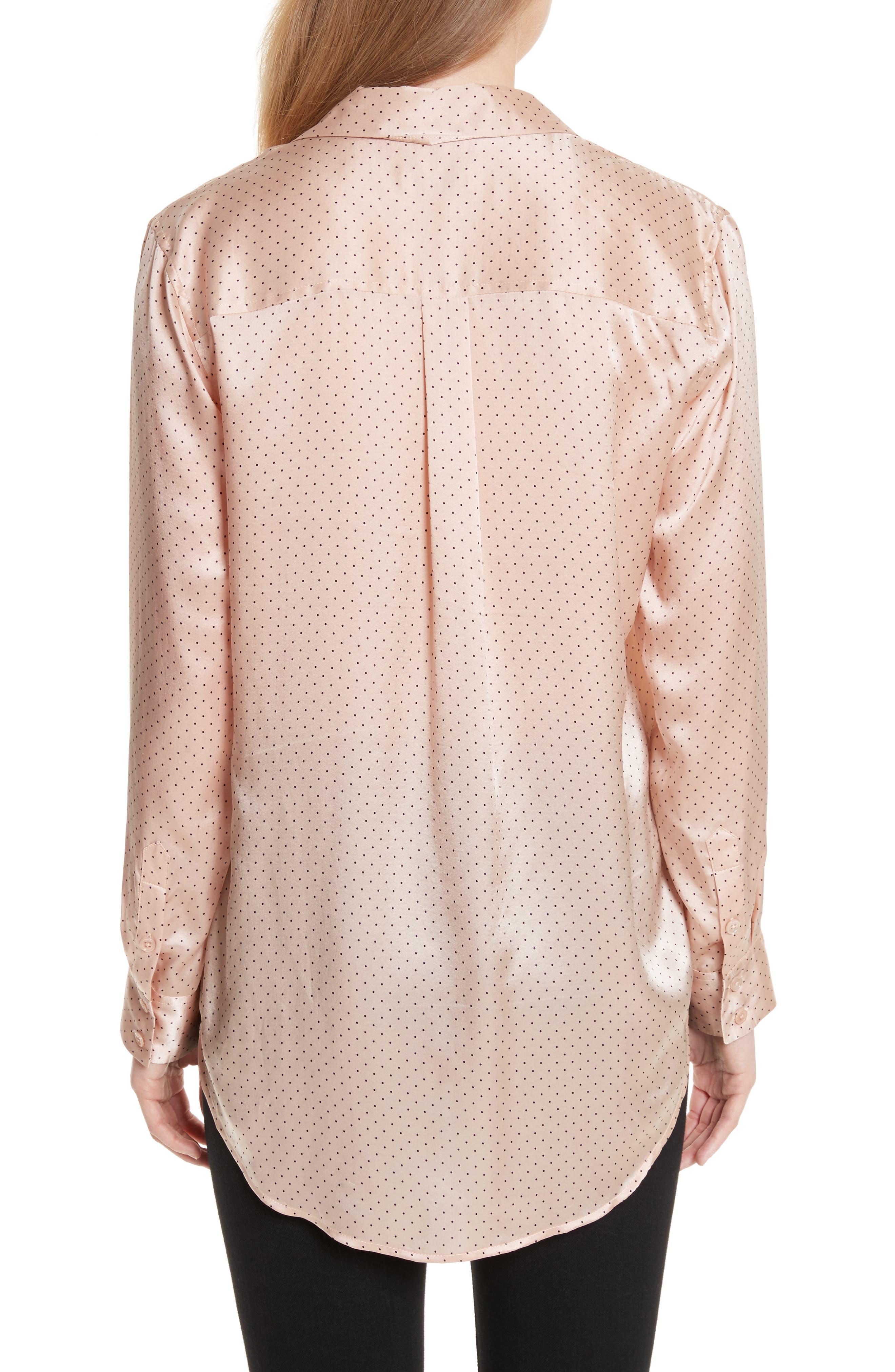 Ansley Dot Silk Shirt,                             Alternate thumbnail 2, color,