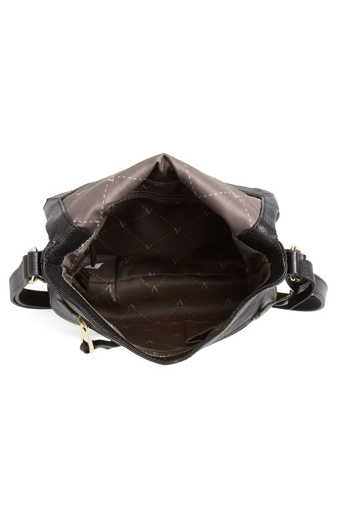 'Tala' Leather Crossbody Bag,                             Alternate thumbnail 5, color,                             001