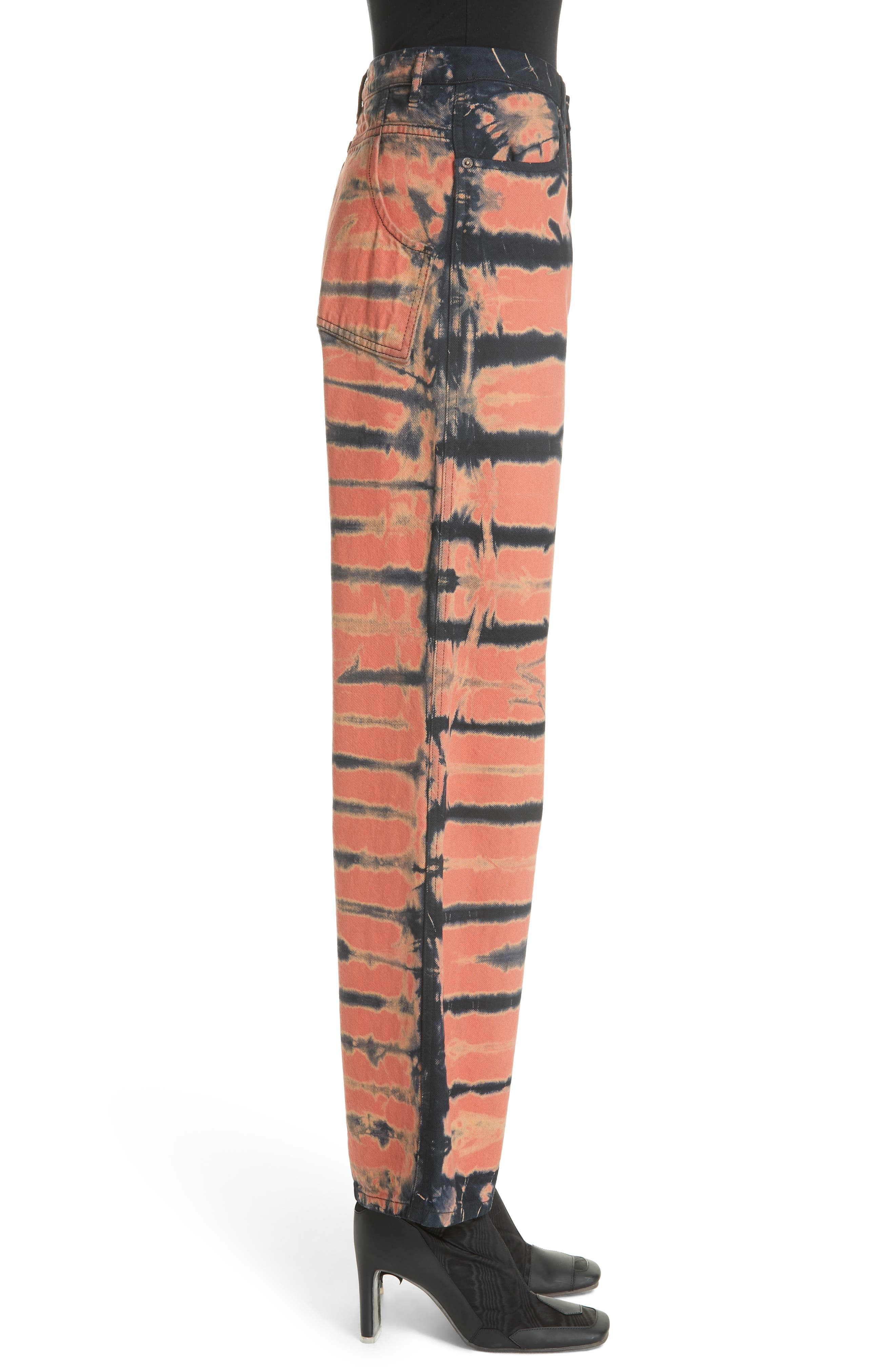Tie Dye Wide Leg Jeans,                             Alternate thumbnail 3, color,                             SHI-SHIBORI