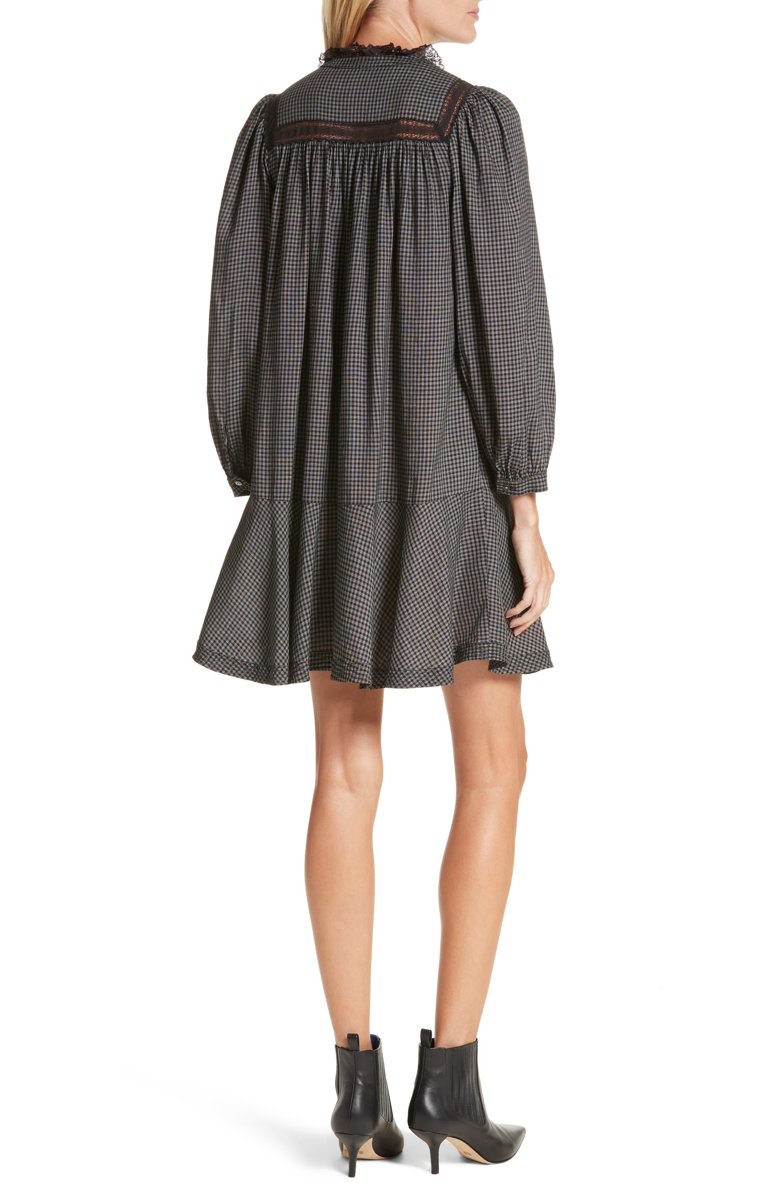 Drop Waist Plaid Dress,                             Alternate thumbnail 2, color,