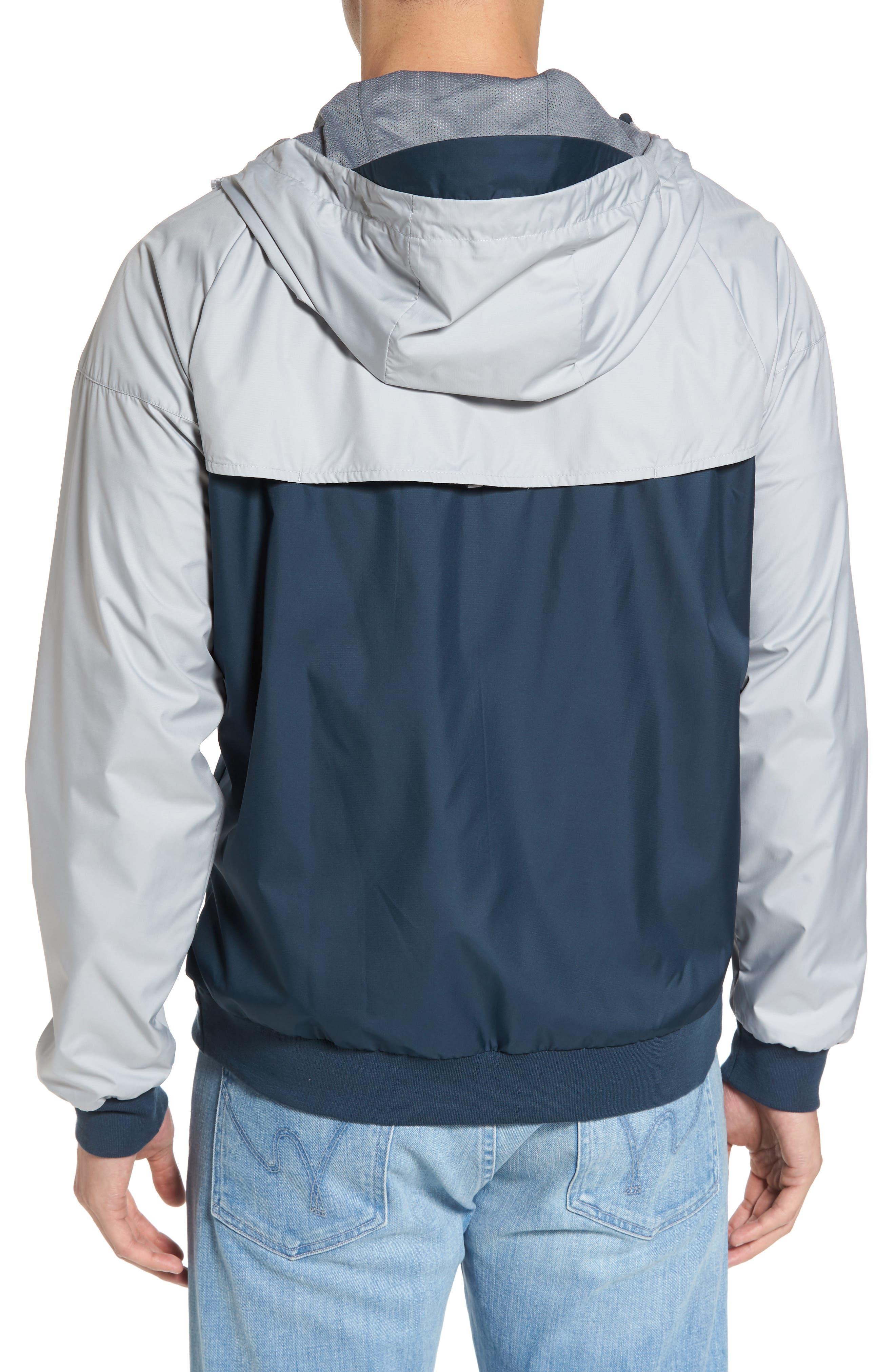 'Windrunner' Colorblock Jacket,                             Alternate thumbnail 2, color,                             GREY/ BLUE