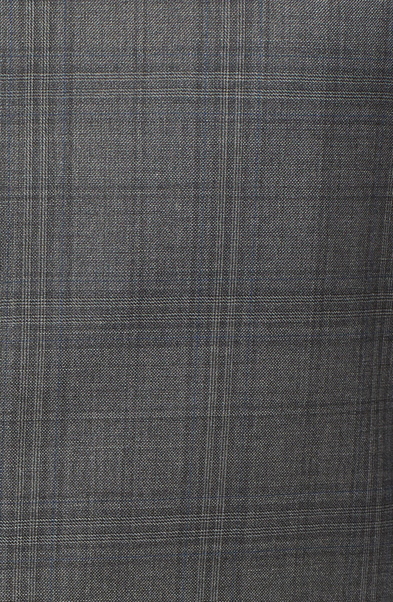 Classic B Fit Plaid Wool Suit,                             Alternate thumbnail 7, color,