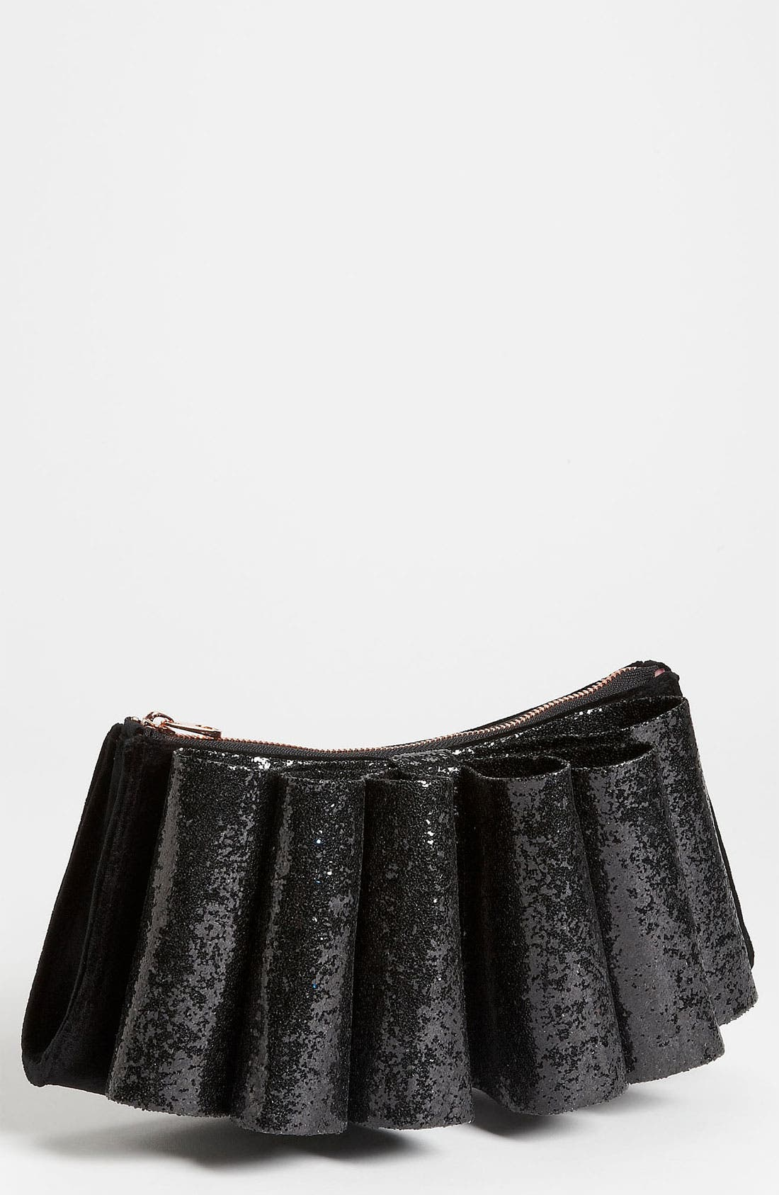 'Langley Glitter Bow' Clutch, Main, color, 001