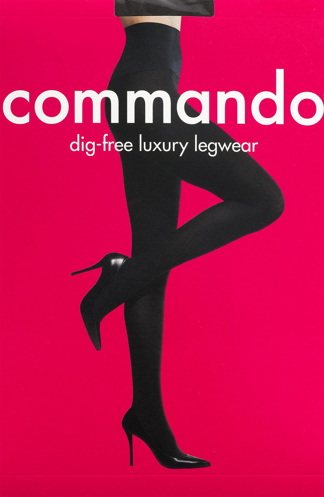 COMMANDO,                             Ultimate Opaque Matte Tights,                             Alternate thumbnail 3, color,                             BLACK