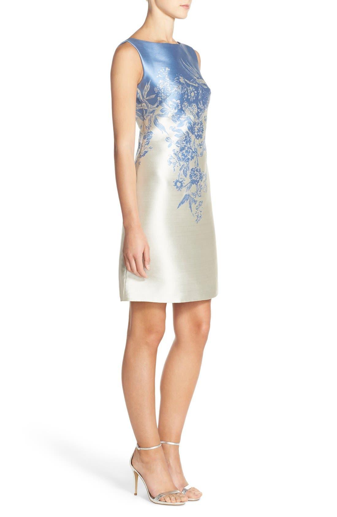 Jacquard A-Line Dress,                             Alternate thumbnail 3, color,                             423