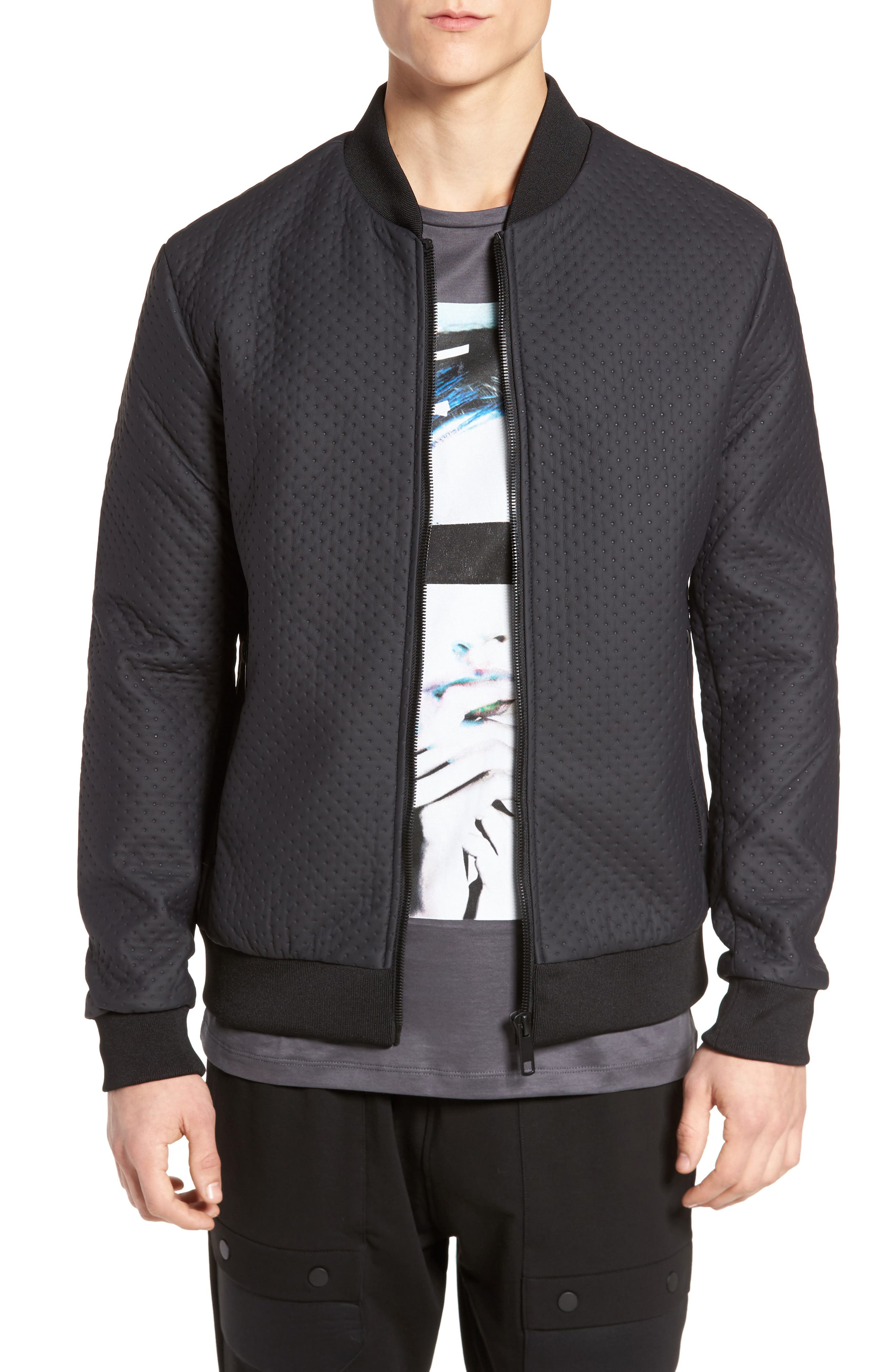 Faux Leather Jacket,                             Main thumbnail 1, color,