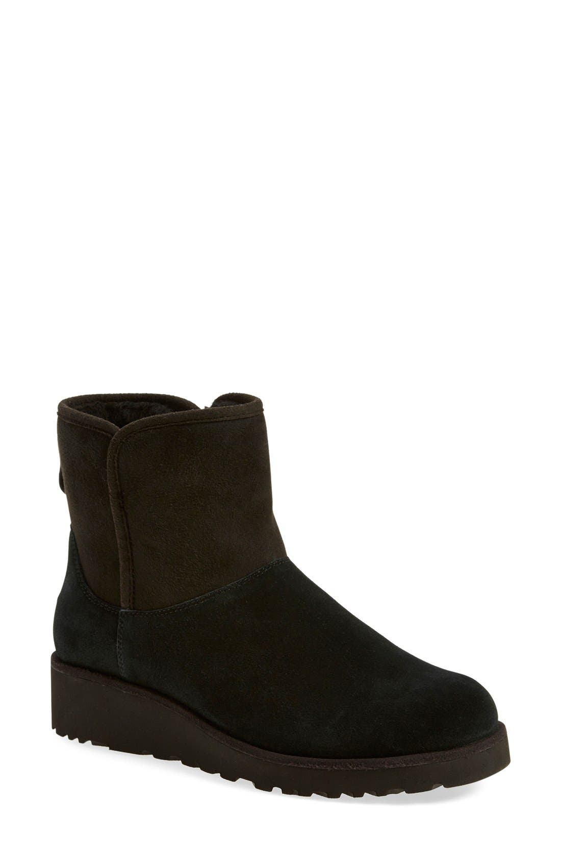 Kristin - Classic Slim<sup>™</sup> Water Resistant Mini Boot,                             Main thumbnail 1, color,                             BLACK SUEDE