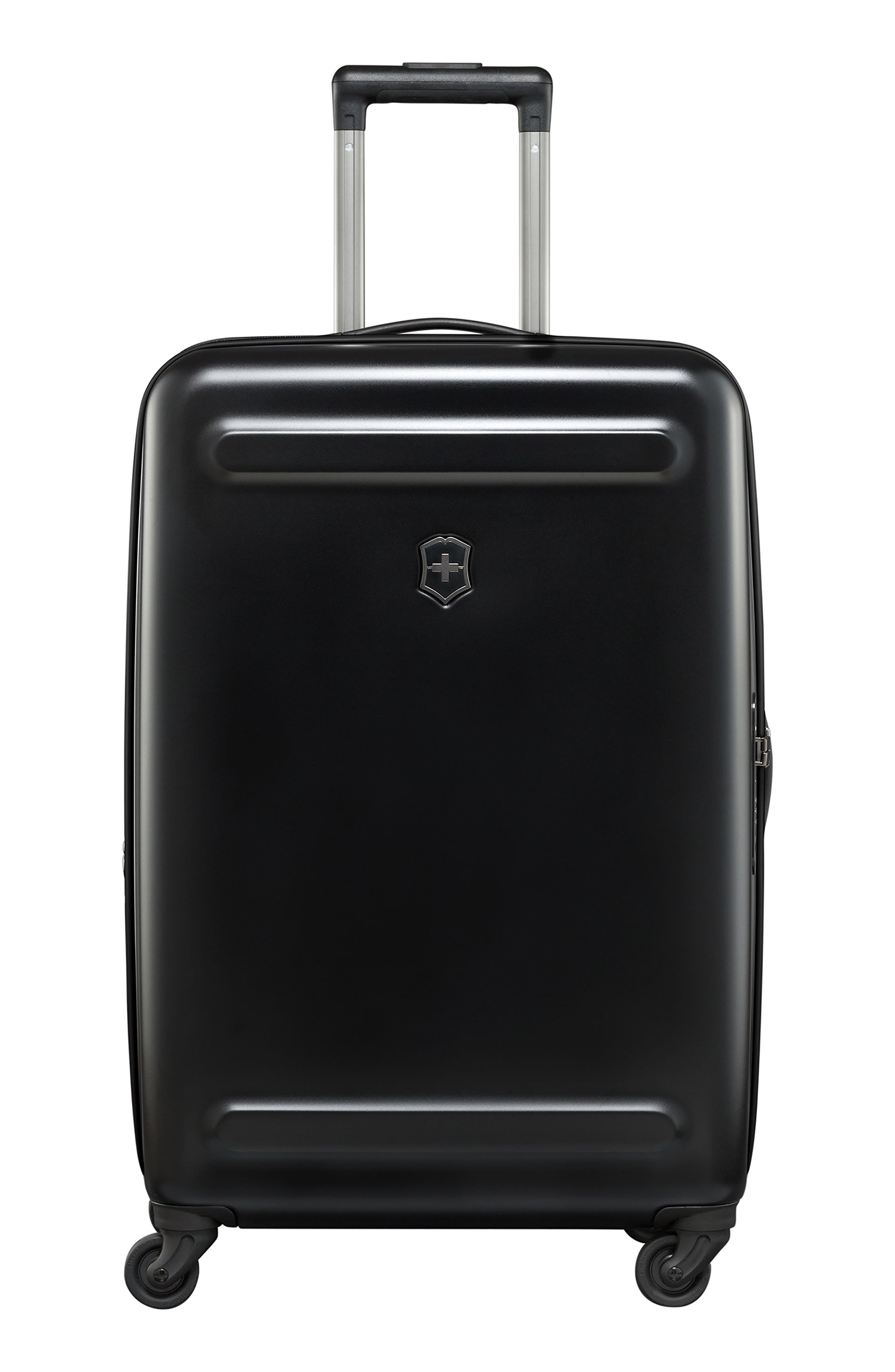 Etherius 27-Inch Wheeled Suitcase,                             Alternate thumbnail 4, color,                             BLACK