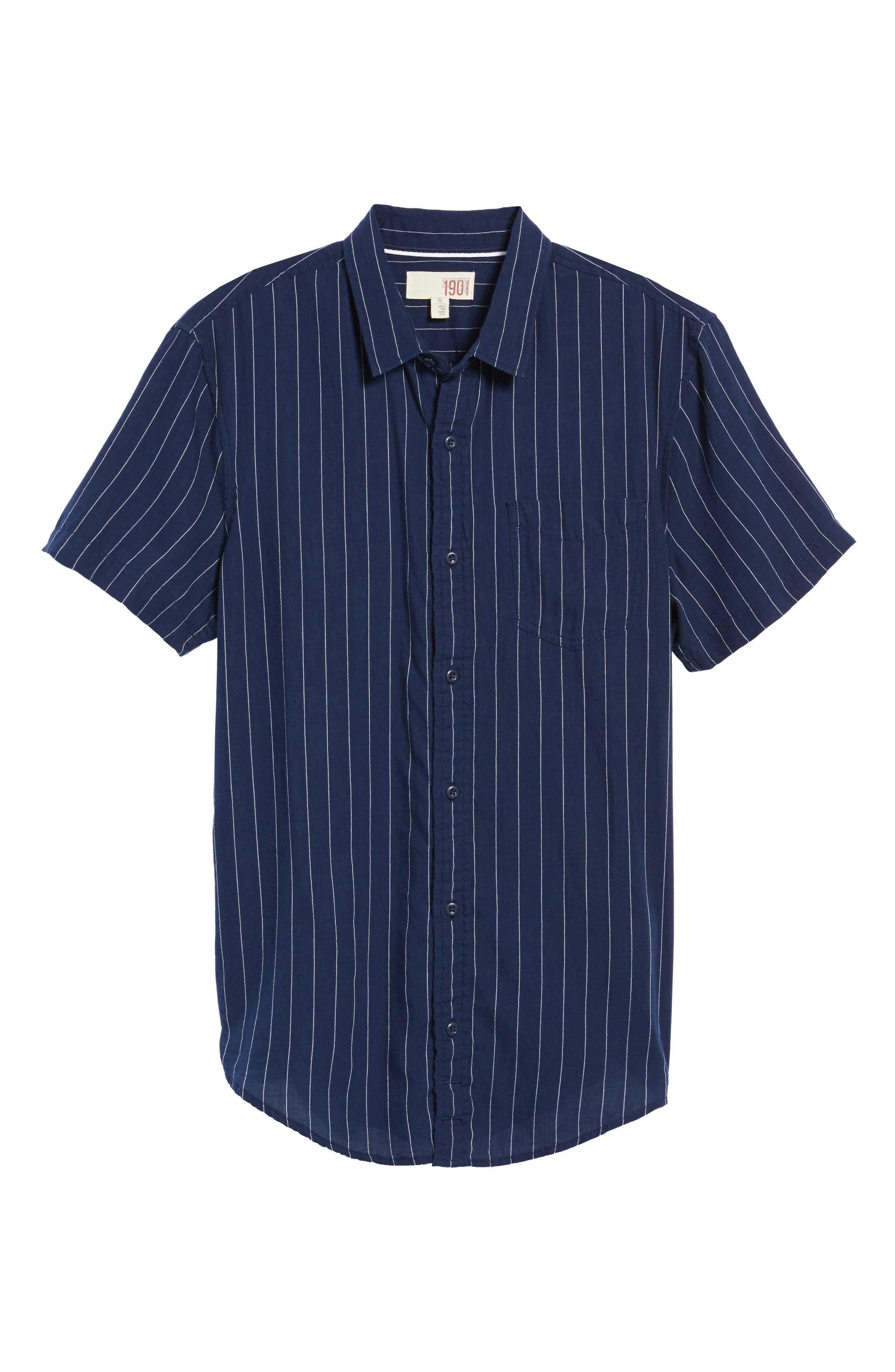 Stripe Twill Shirt,                             Alternate thumbnail 6, color,                             410