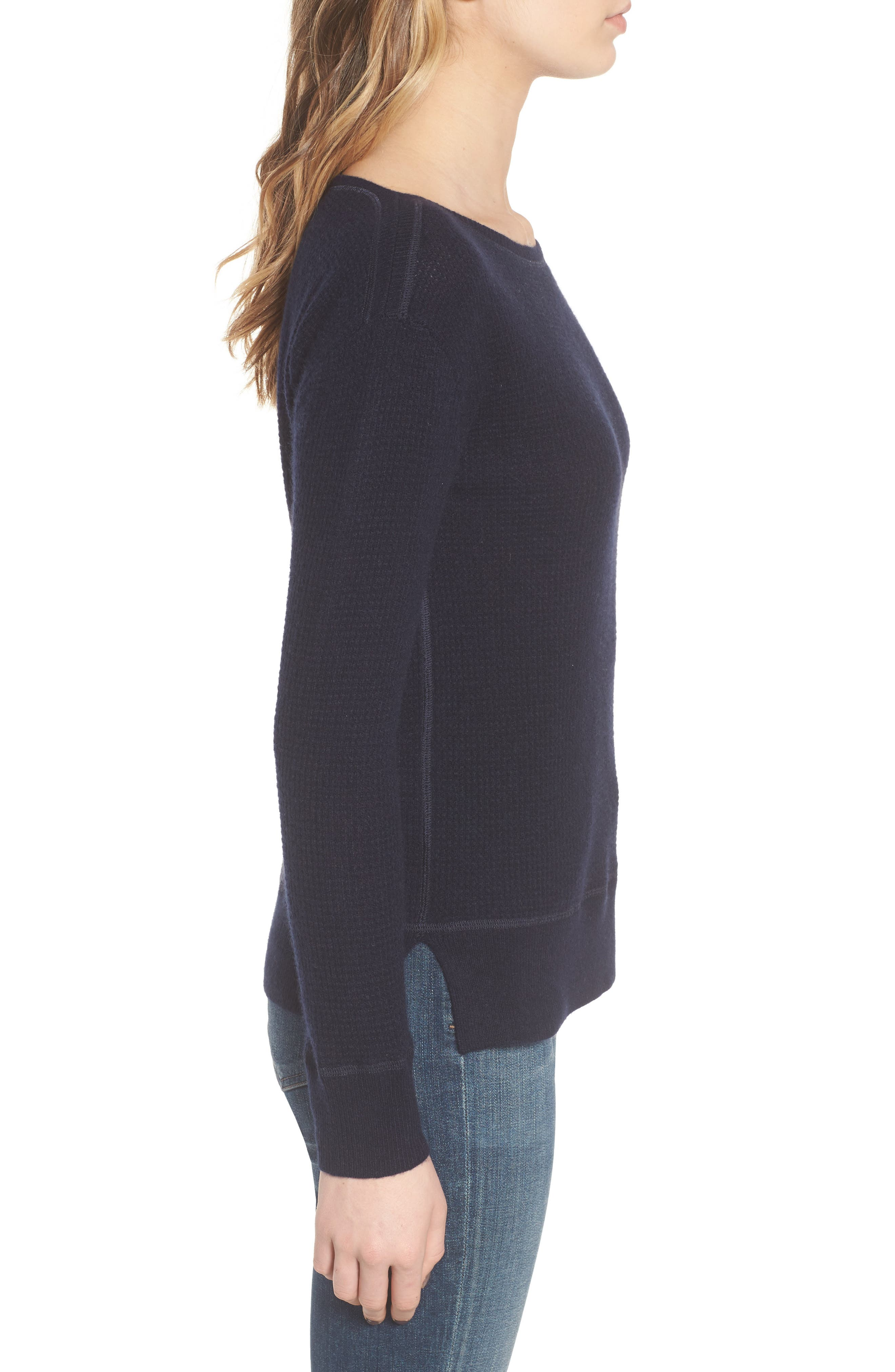 Thermal Cashmere Top,                             Alternate thumbnail 6, color,