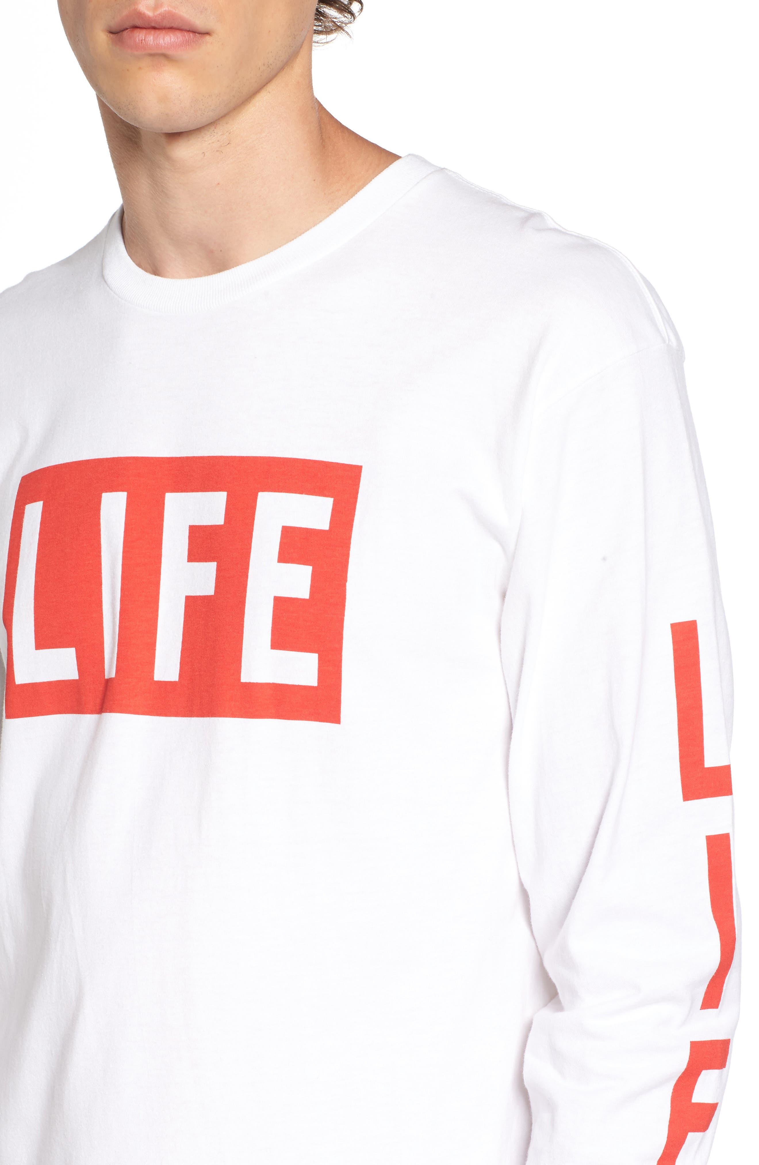 Life Logo Long Sleeve T-Shirt,                             Alternate thumbnail 4, color,                             100