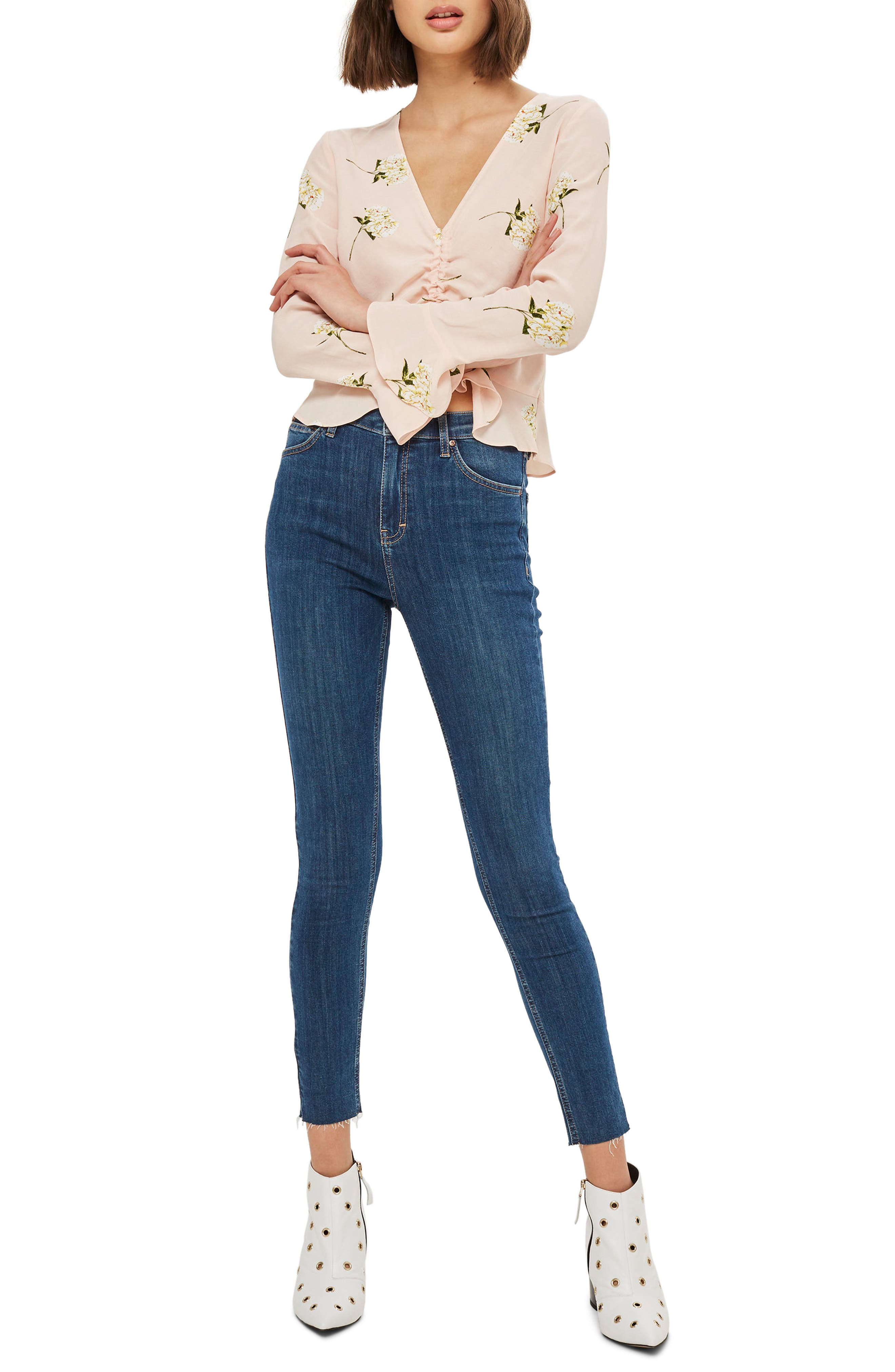 Jamie Released Hem Ankle Skinny Jeans,                             Main thumbnail 1, color,