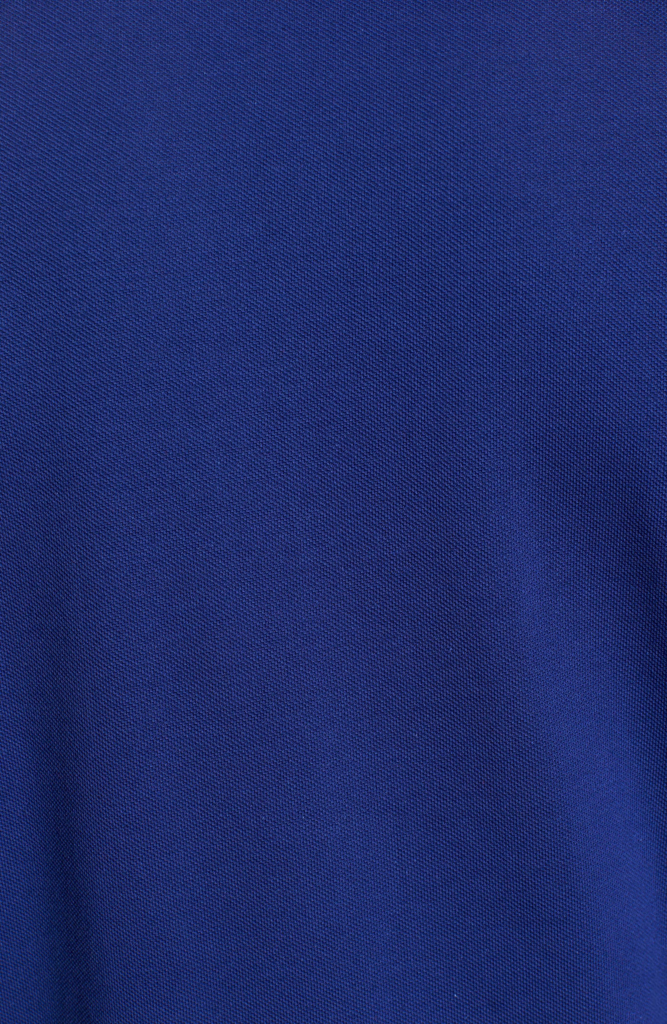 Classic Fit Long Sleeve Piqué Polo,                             Alternate thumbnail 5, color,                             OCEAN