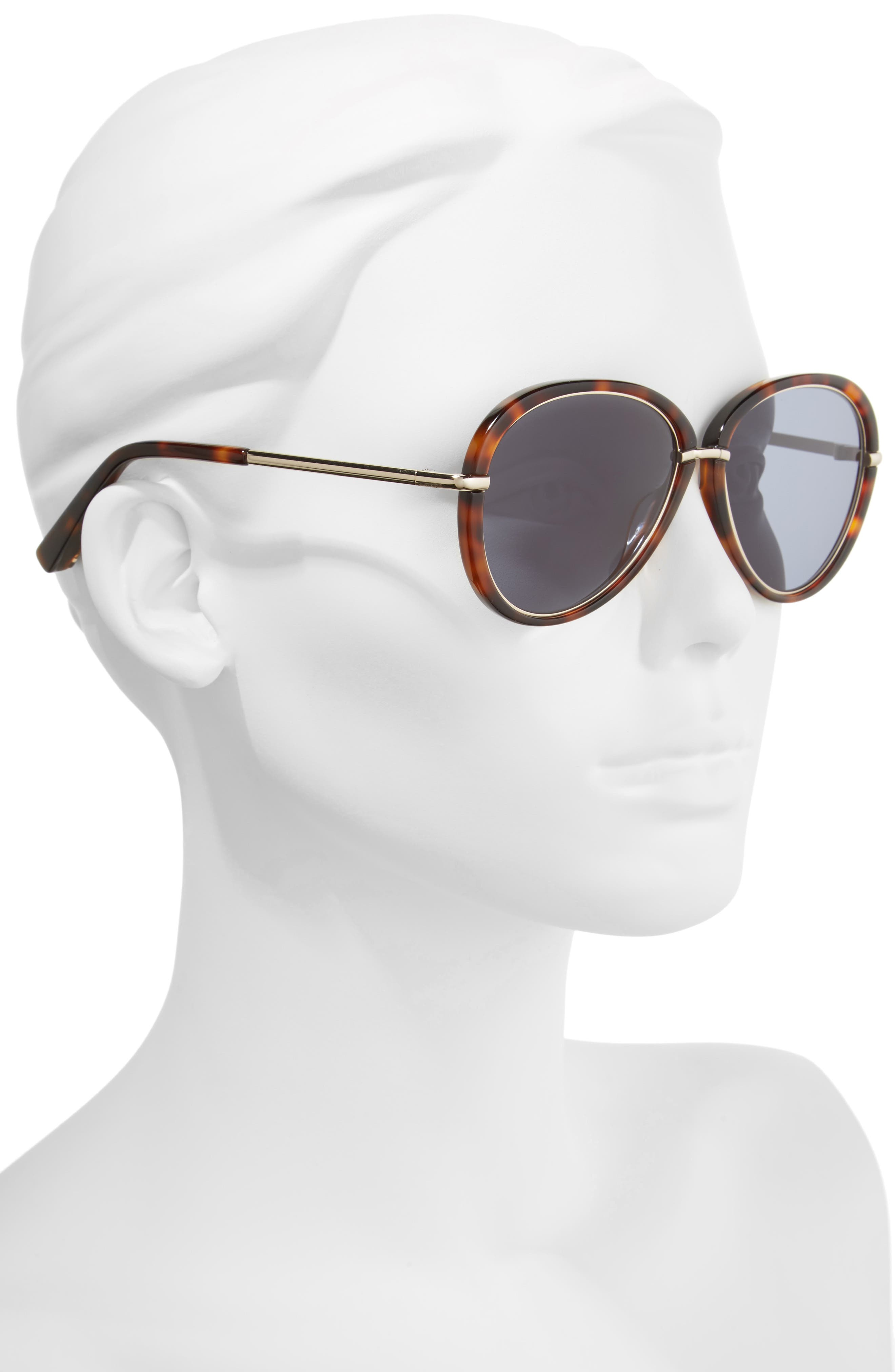 Reed 57mm Aviator Sunglasses,                             Alternate thumbnail 4, color,