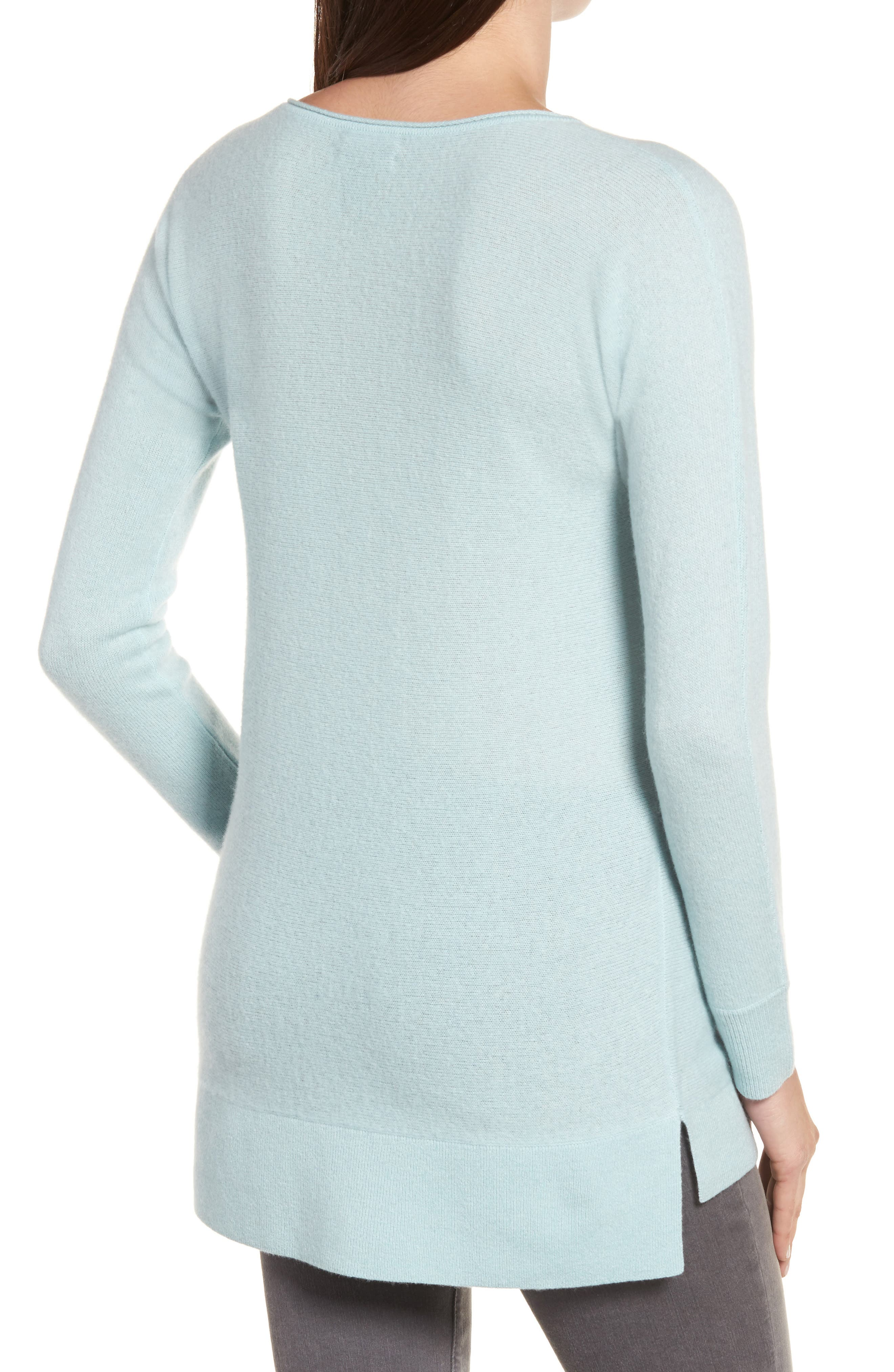 High/Low Wool & Cashmere Tunic Sweater,                             Alternate thumbnail 29, color,