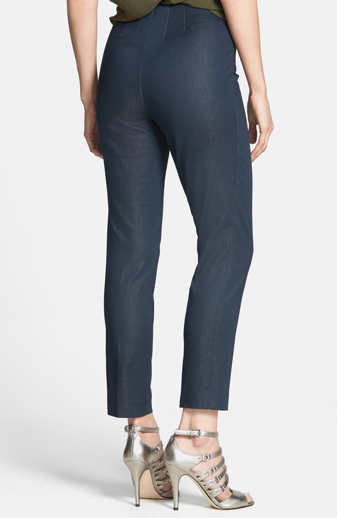 Side Zip Double Weave Pants,                             Alternate thumbnail 40, color,