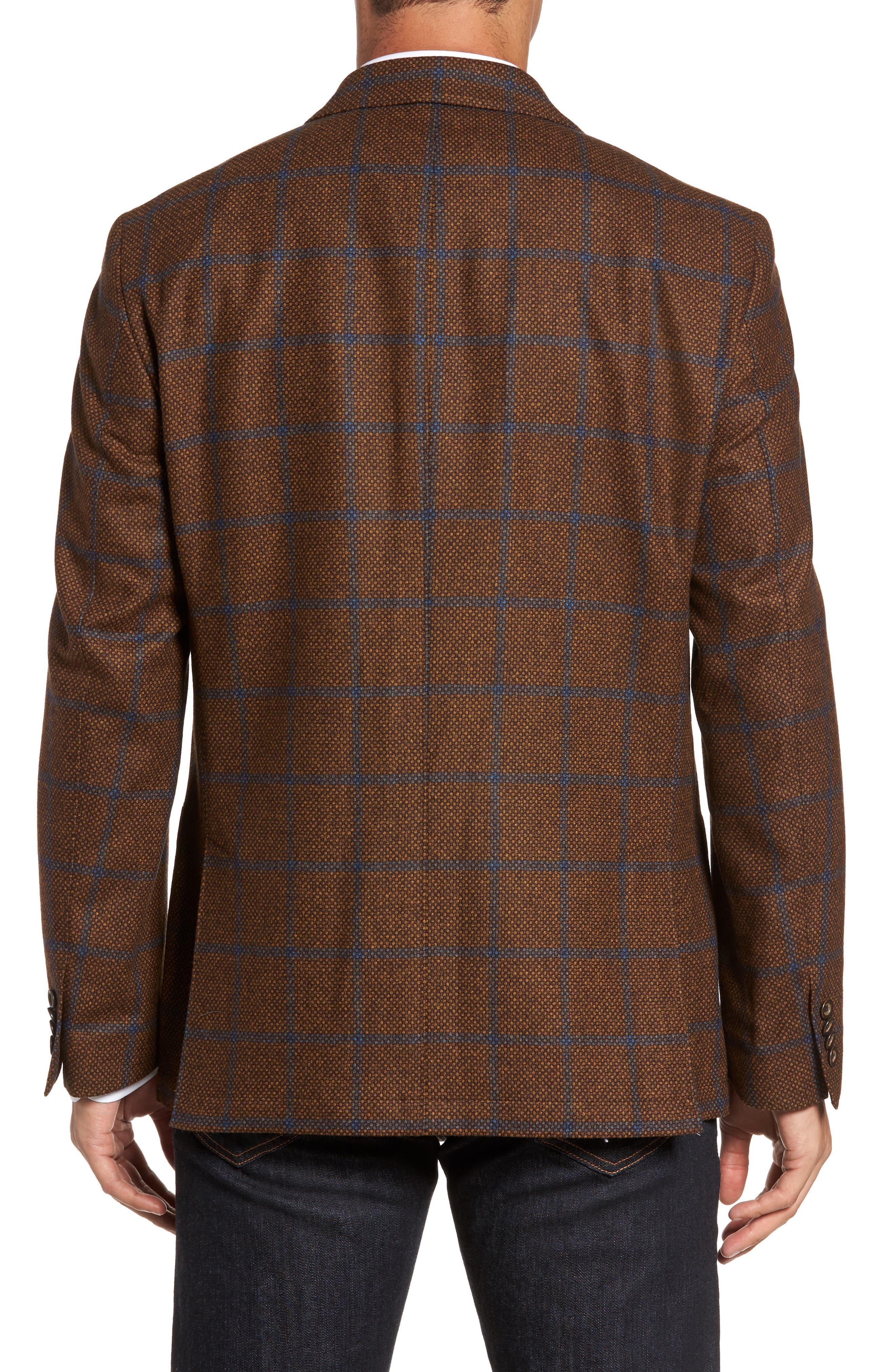 Classic Fit Windowpane Wool Sport Coat,                             Alternate thumbnail 2, color,                             220