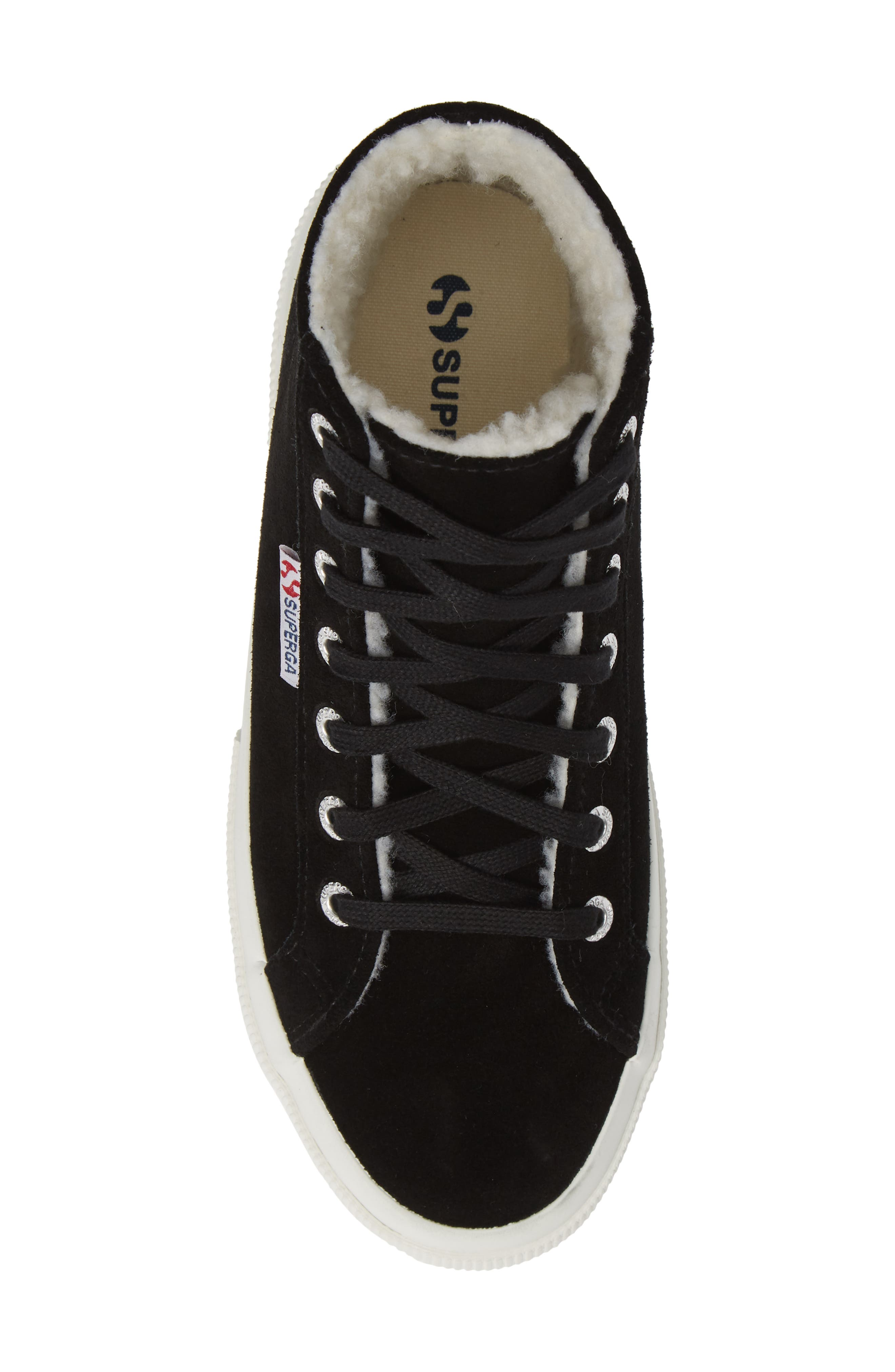 2795 Suefurw High Top Sneaker,                             Alternate thumbnail 5, color,                             BLACK SUEDE