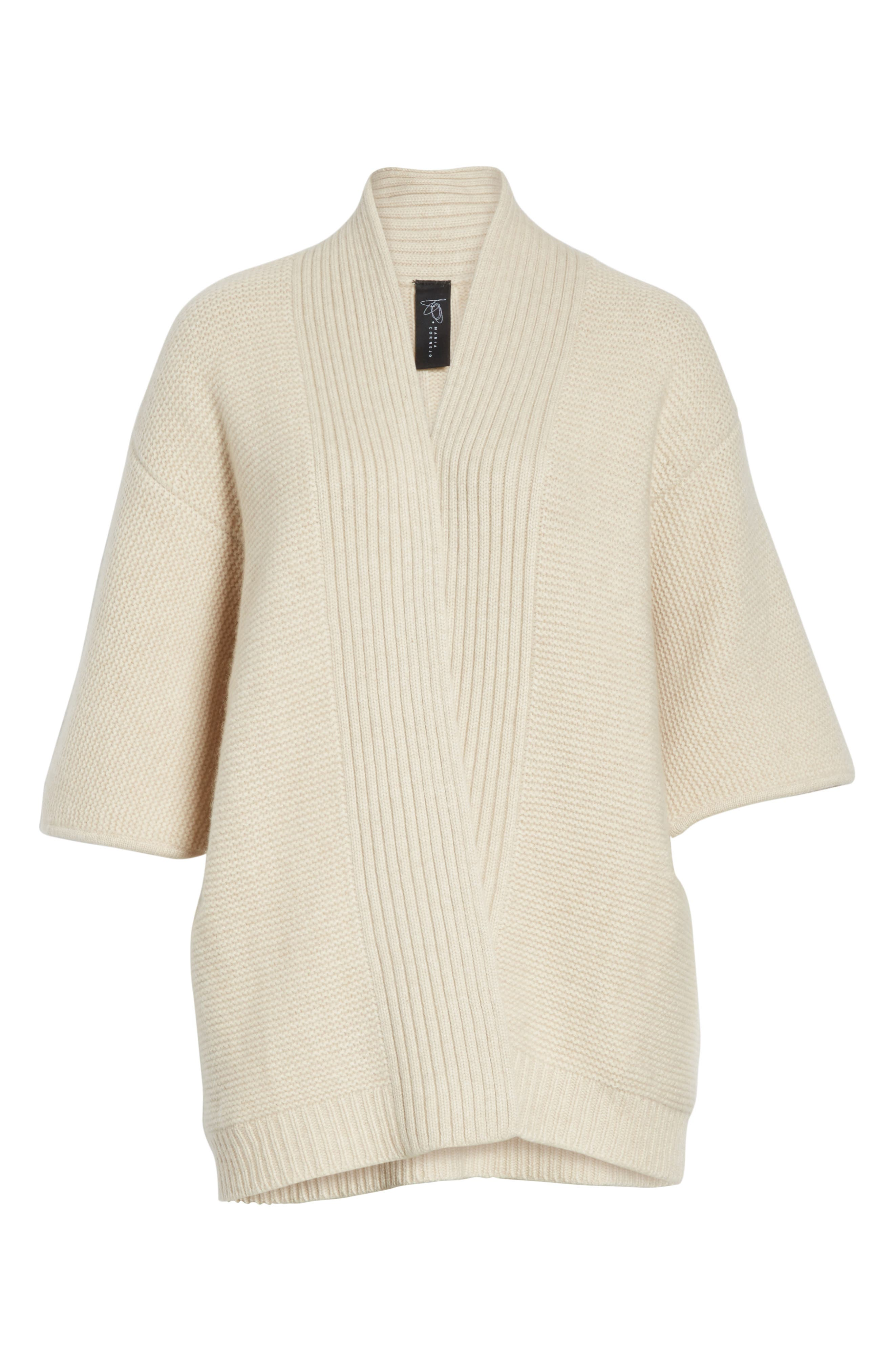 Cashmere & Merino Wool Cardigan,                             Alternate thumbnail 6, color,