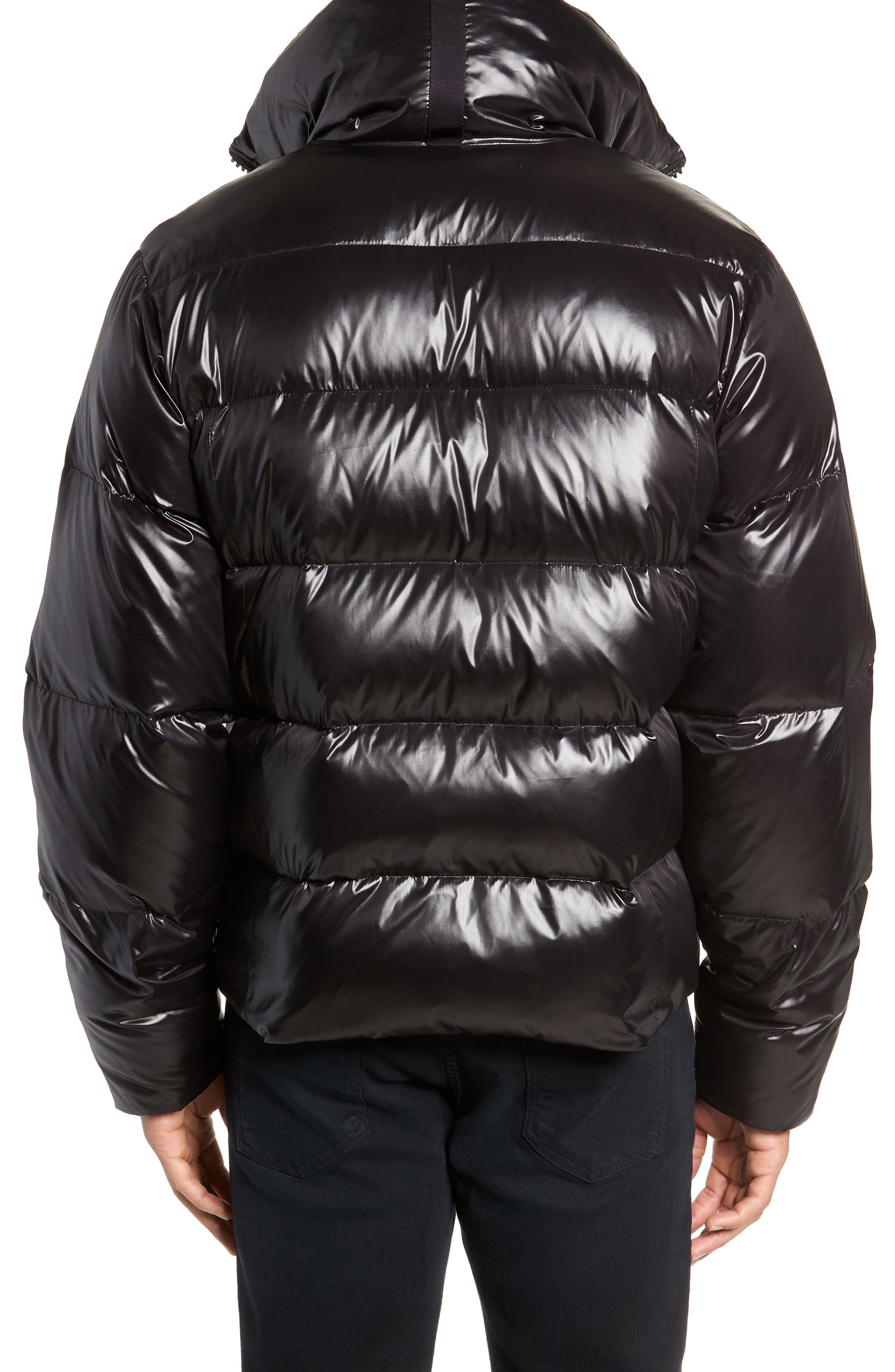Logan Water Repellent Down & Feather Fill Puffer Jacket,                             Alternate thumbnail 2, color,                             BLACK