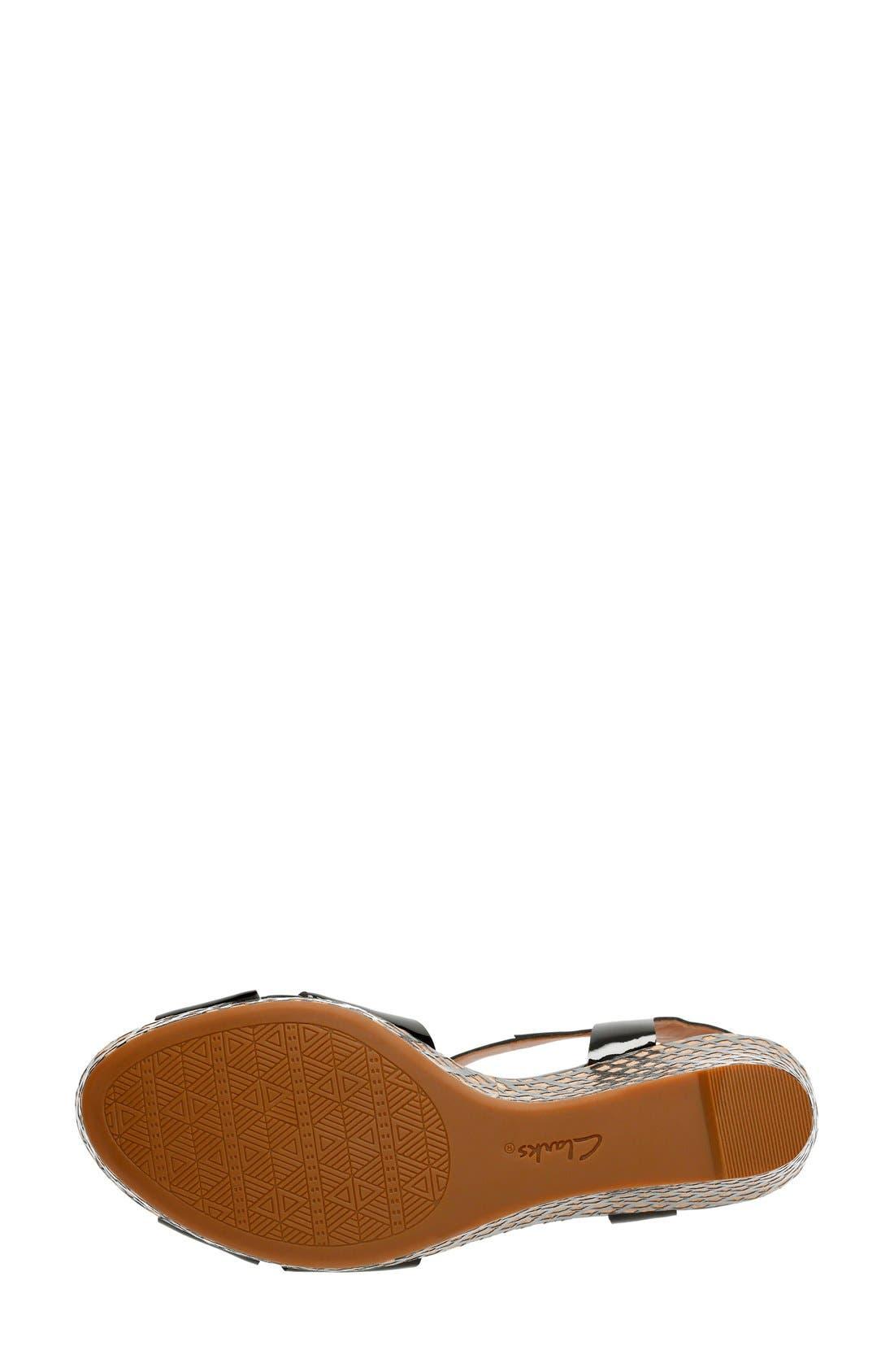 'Amelia Roma' Wedge Sandal,                             Alternate thumbnail 4, color,                             017