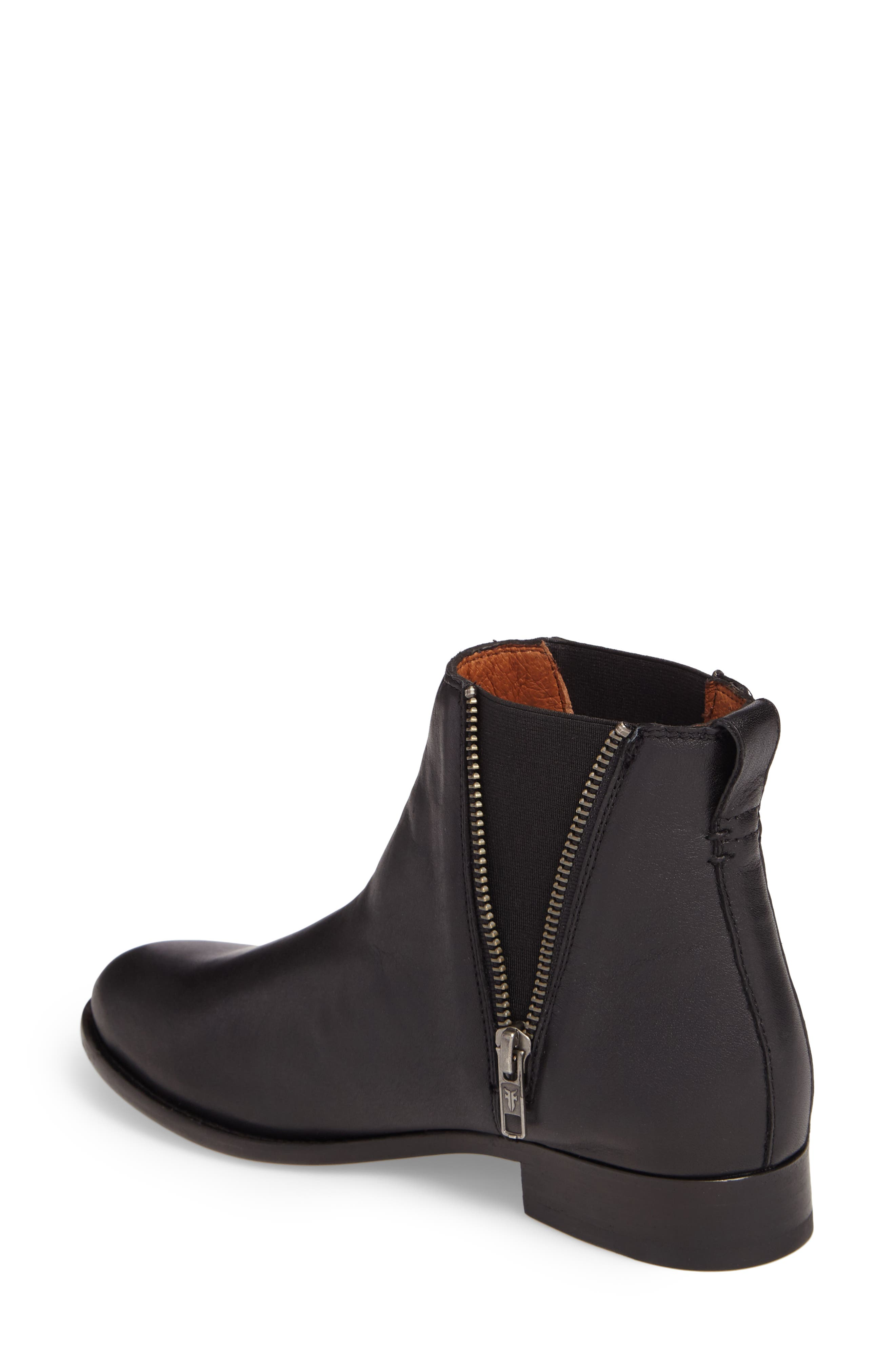 Carly Chelsea Boot,                             Alternate thumbnail 2, color,                             BLACK LEATHER