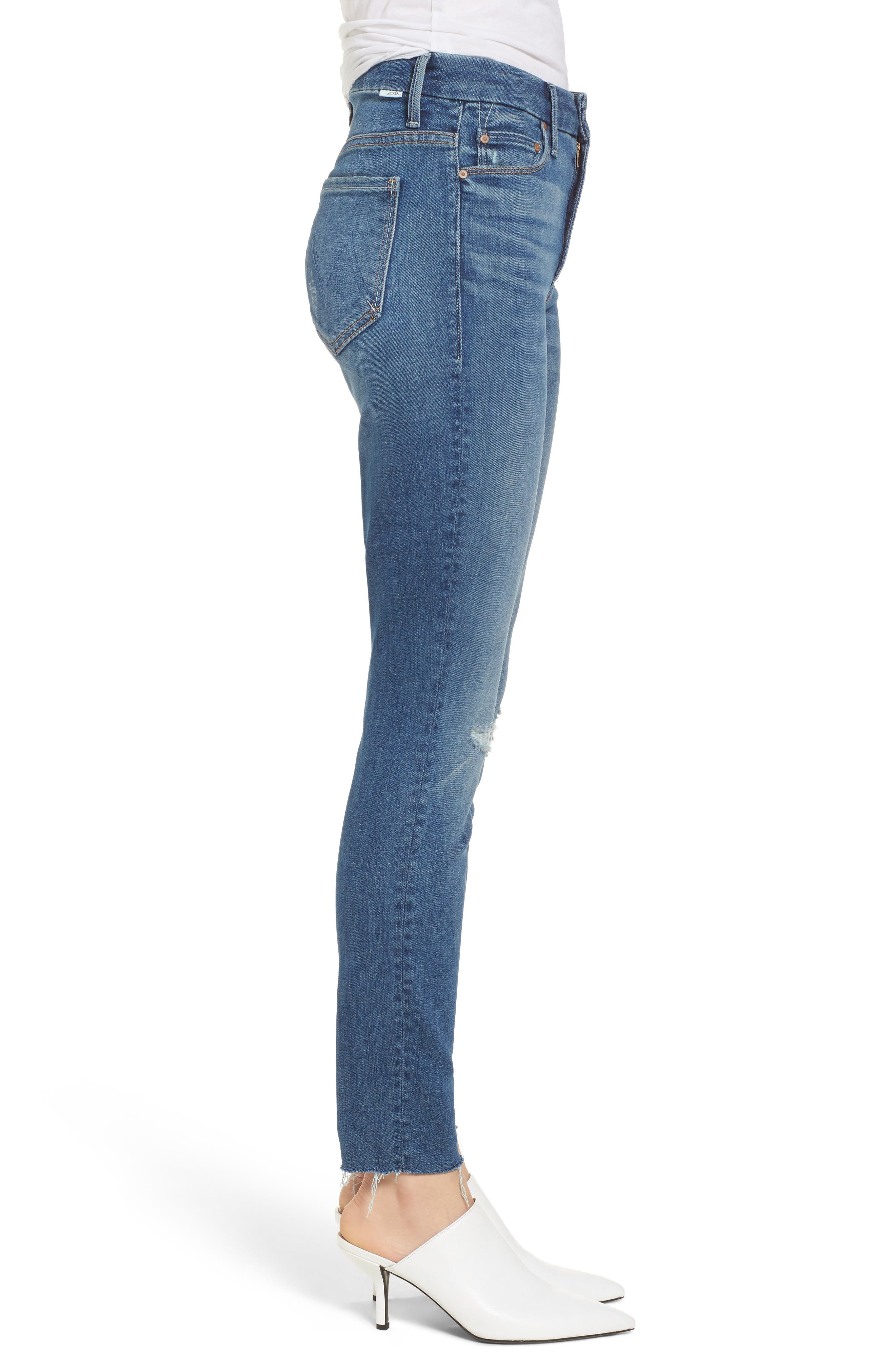 The Looker Frayed Ankle Jeans,                             Alternate thumbnail 3, color,                             420