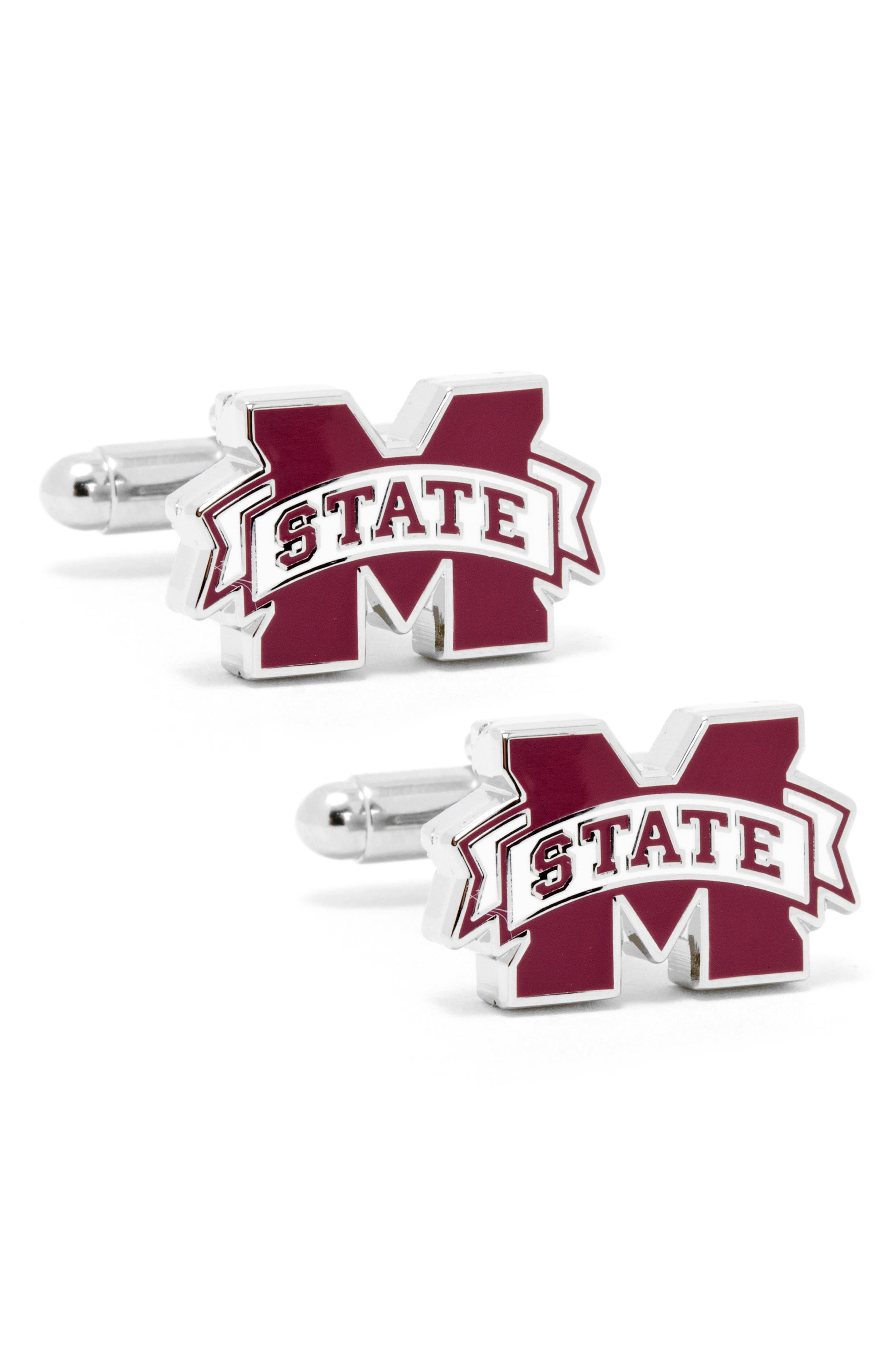 Mississippi Bulldogs Cuff Links,                             Main thumbnail 1, color,                             RED