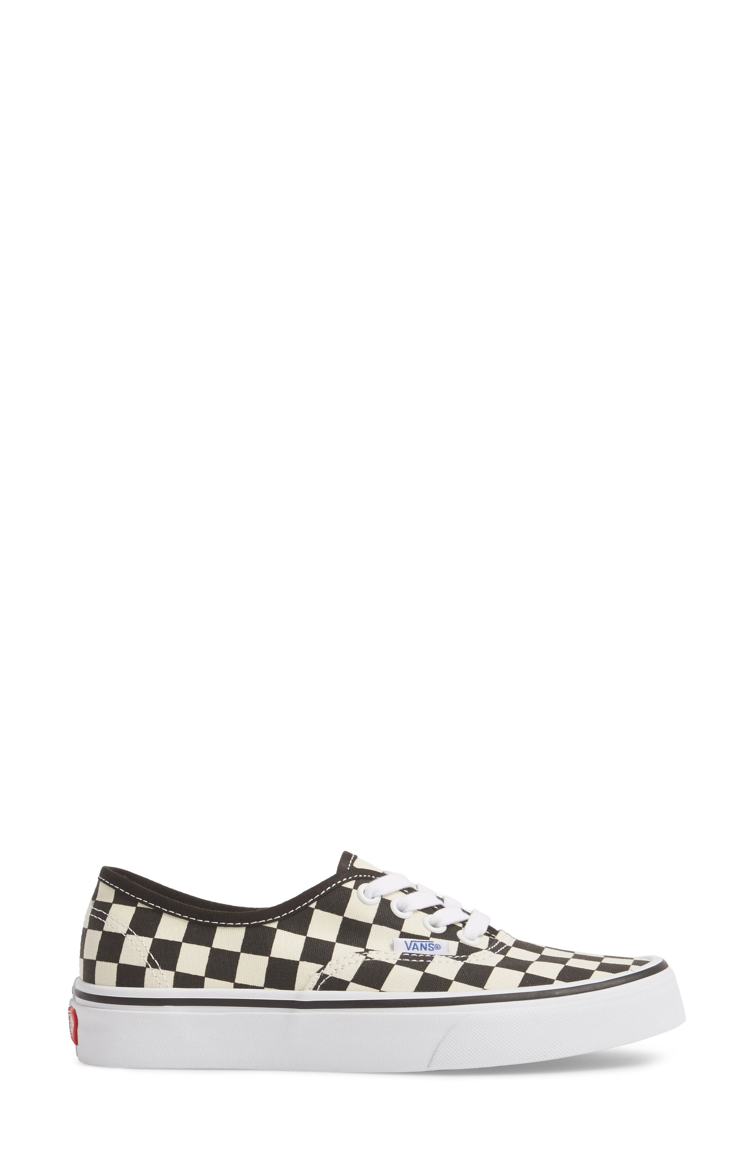 'Authentic' Sneaker,                             Alternate thumbnail 3, color,                             BLACK/ WHITE CHECKER