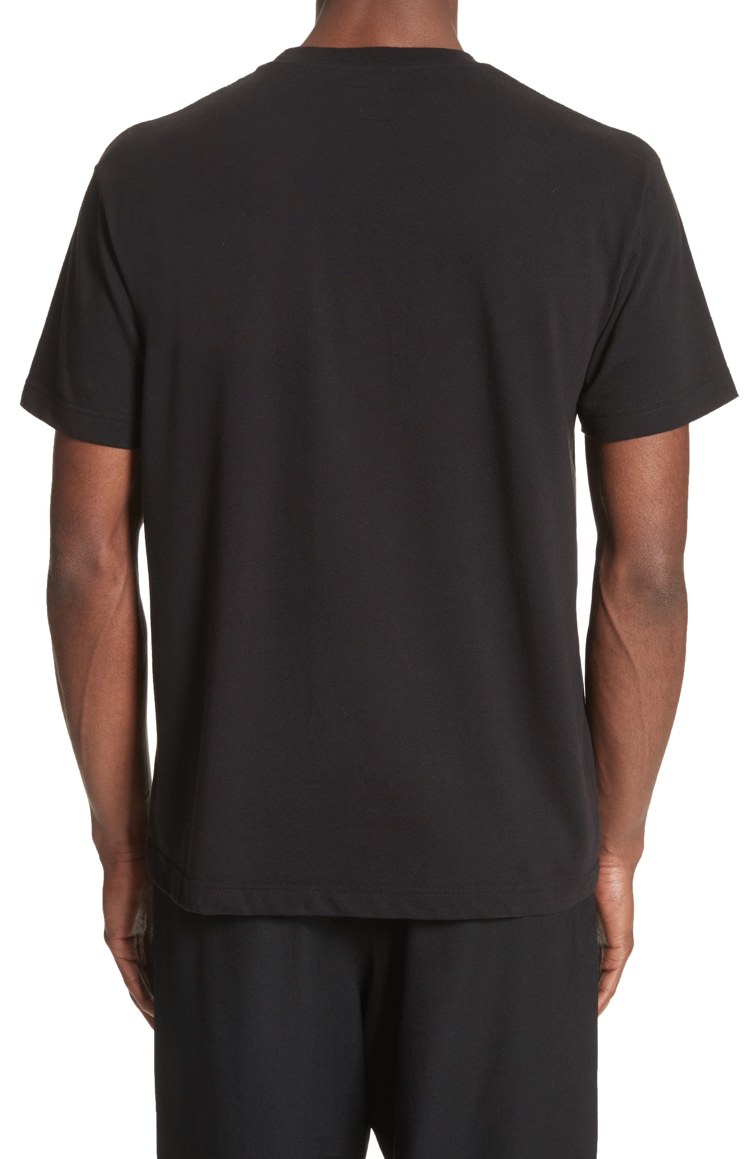 x New Era Embroidered Script T-Shirt,                             Alternate thumbnail 2, color,                             001