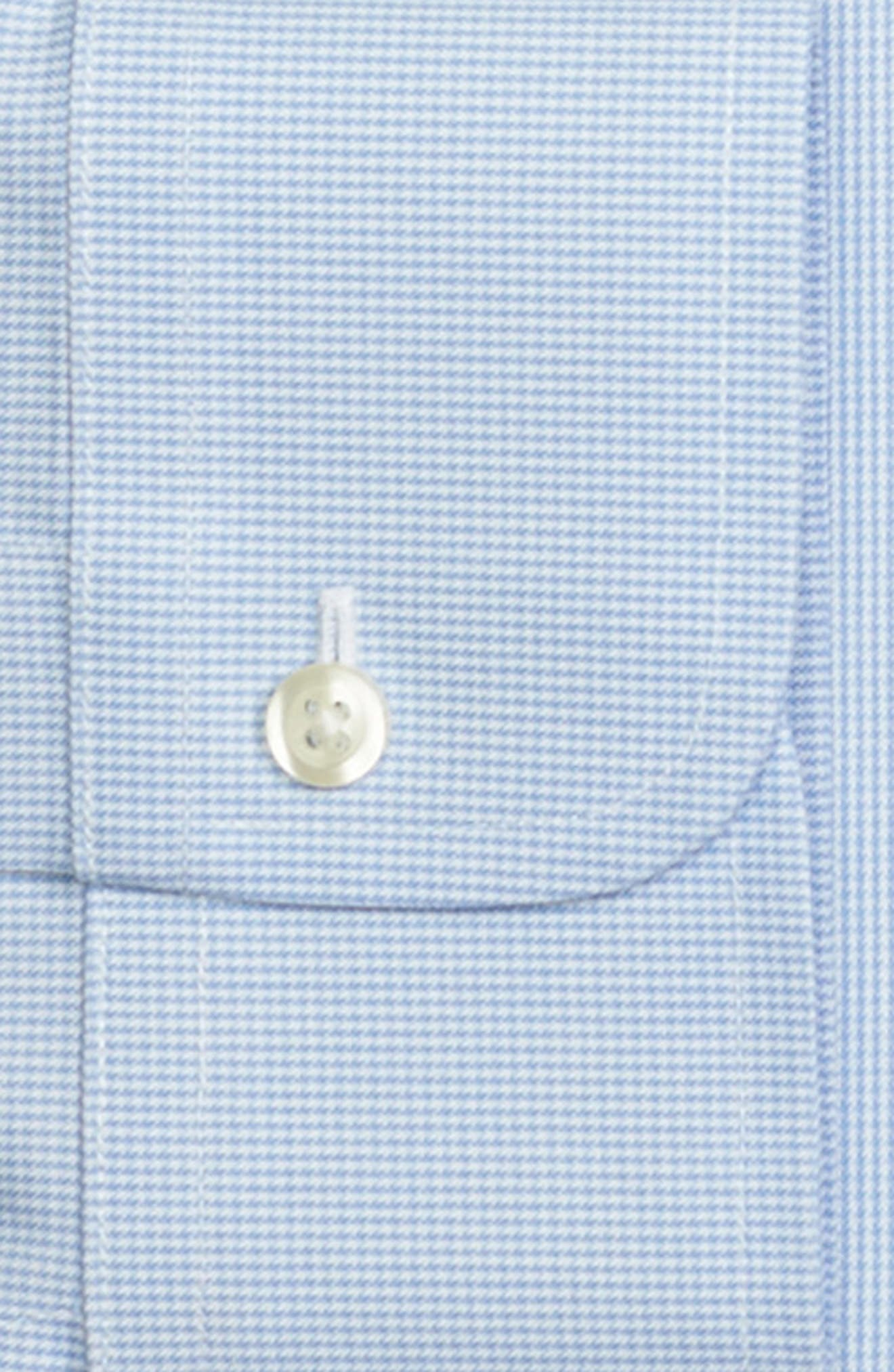 Classic Fit Houndstooth Dress Shirt,                             Alternate thumbnail 2, color,                             LIGHT/ PASTEL BLUE