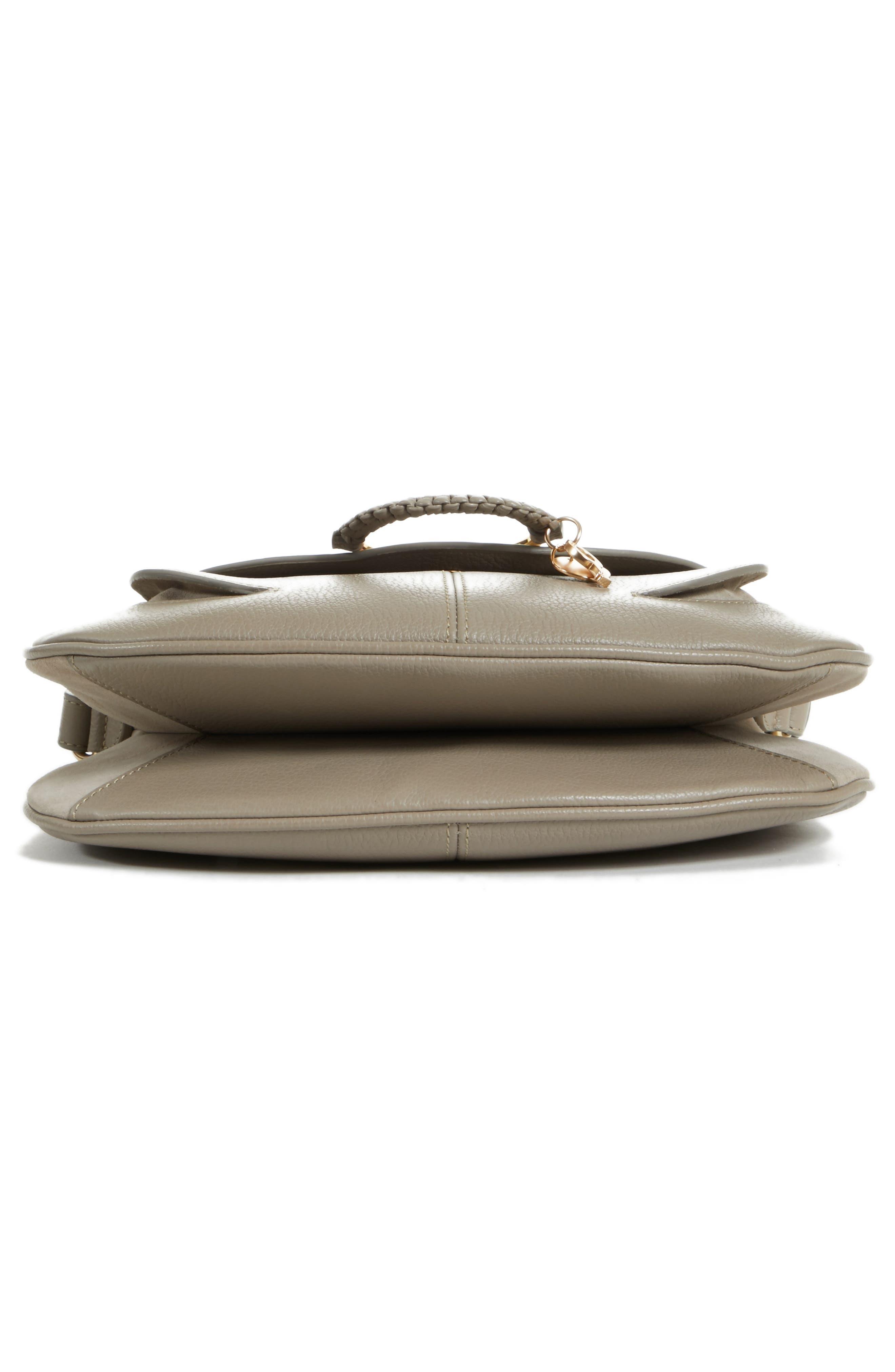Hana Leather Shoulder Bag,                             Alternate thumbnail 12, color,