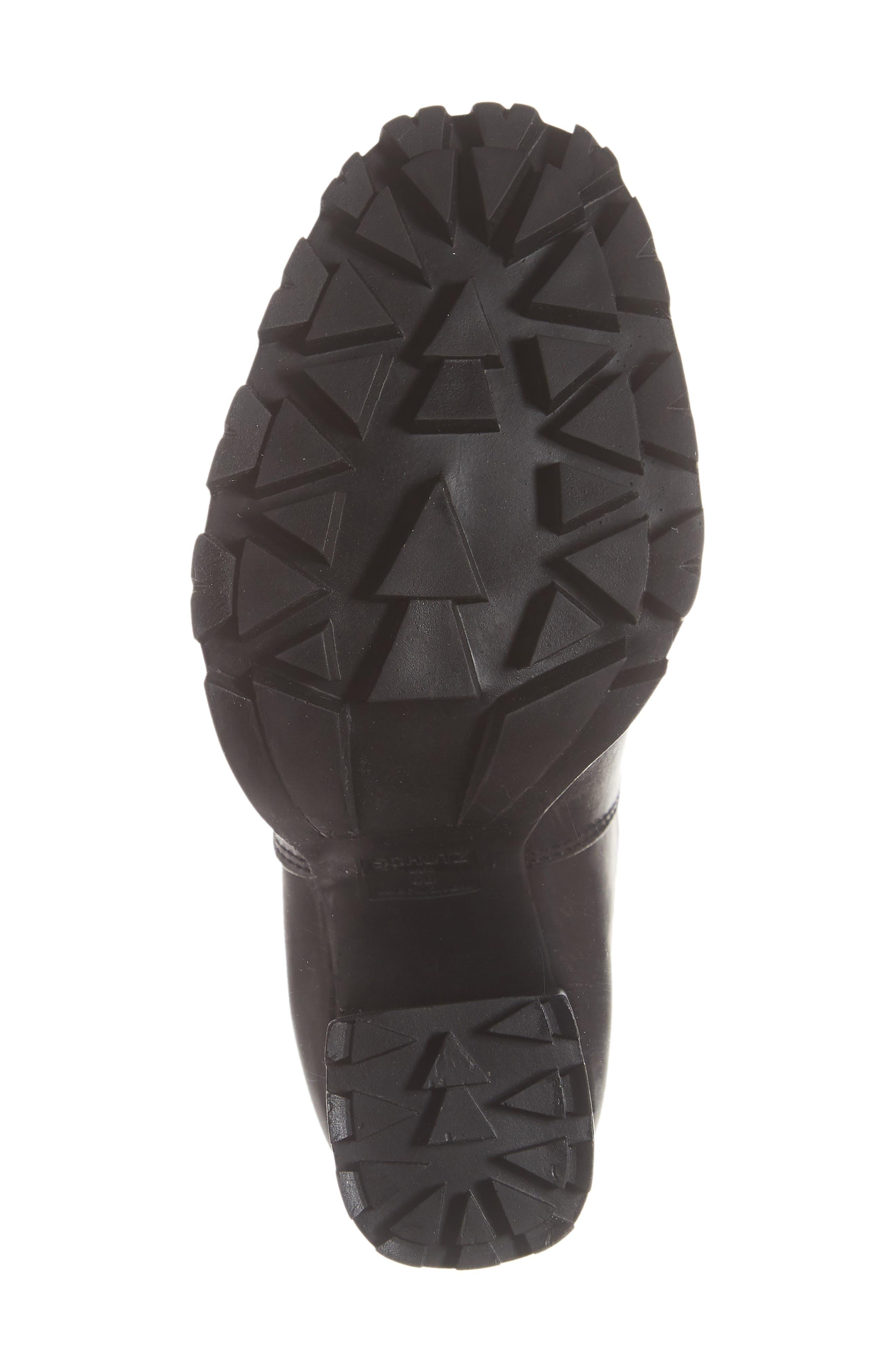 Ilenne Platform Sock Bootie,                             Alternate thumbnail 6, color,                             BLACK/ WHITE