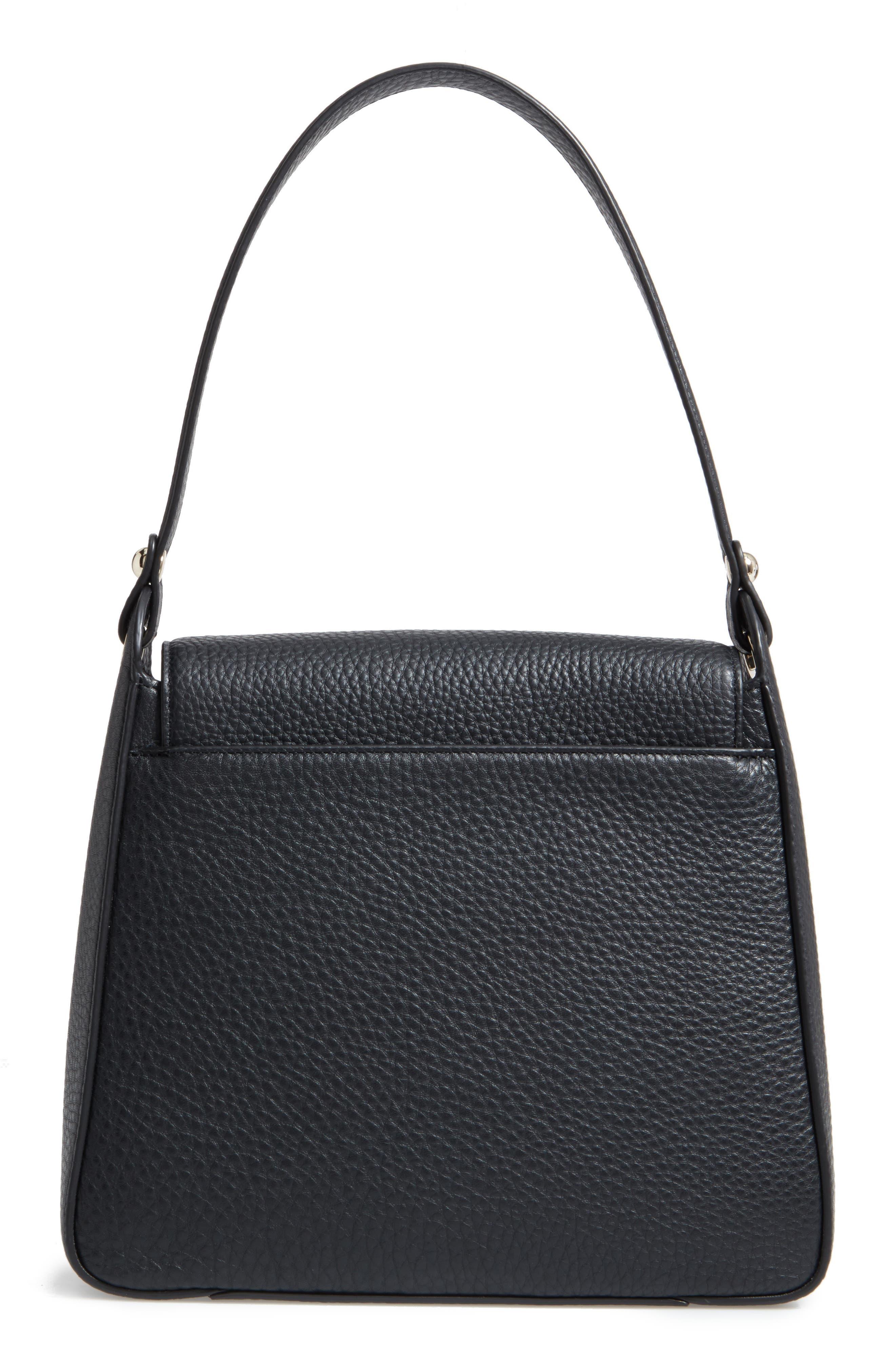 stewart street lynea leather satchel,                             Alternate thumbnail 3, color,                             001