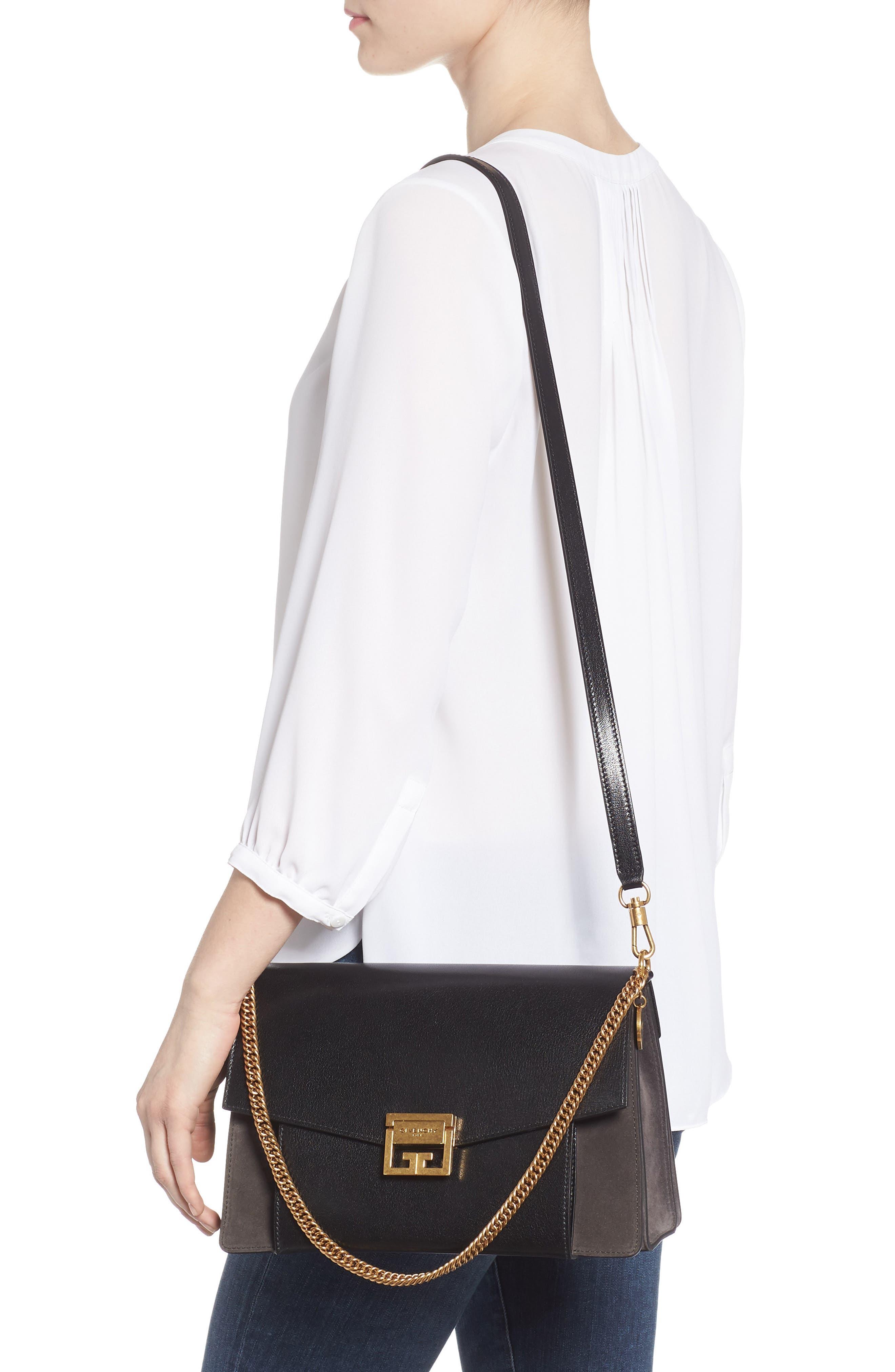 Medium GV3 Leather Crossbody Bag,                             Alternate thumbnail 2, color,                             BLACK/ GREY