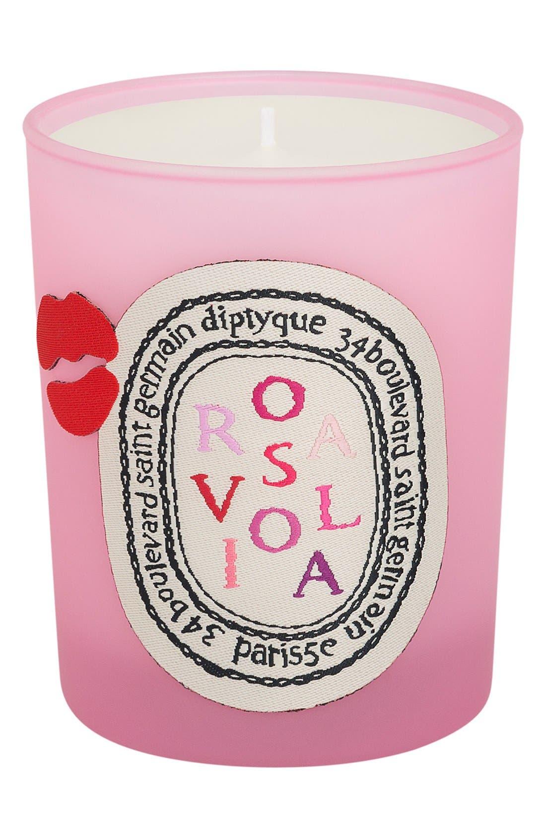 'Rosaviola' Scented Candle,                             Main thumbnail 1, color,                             000
