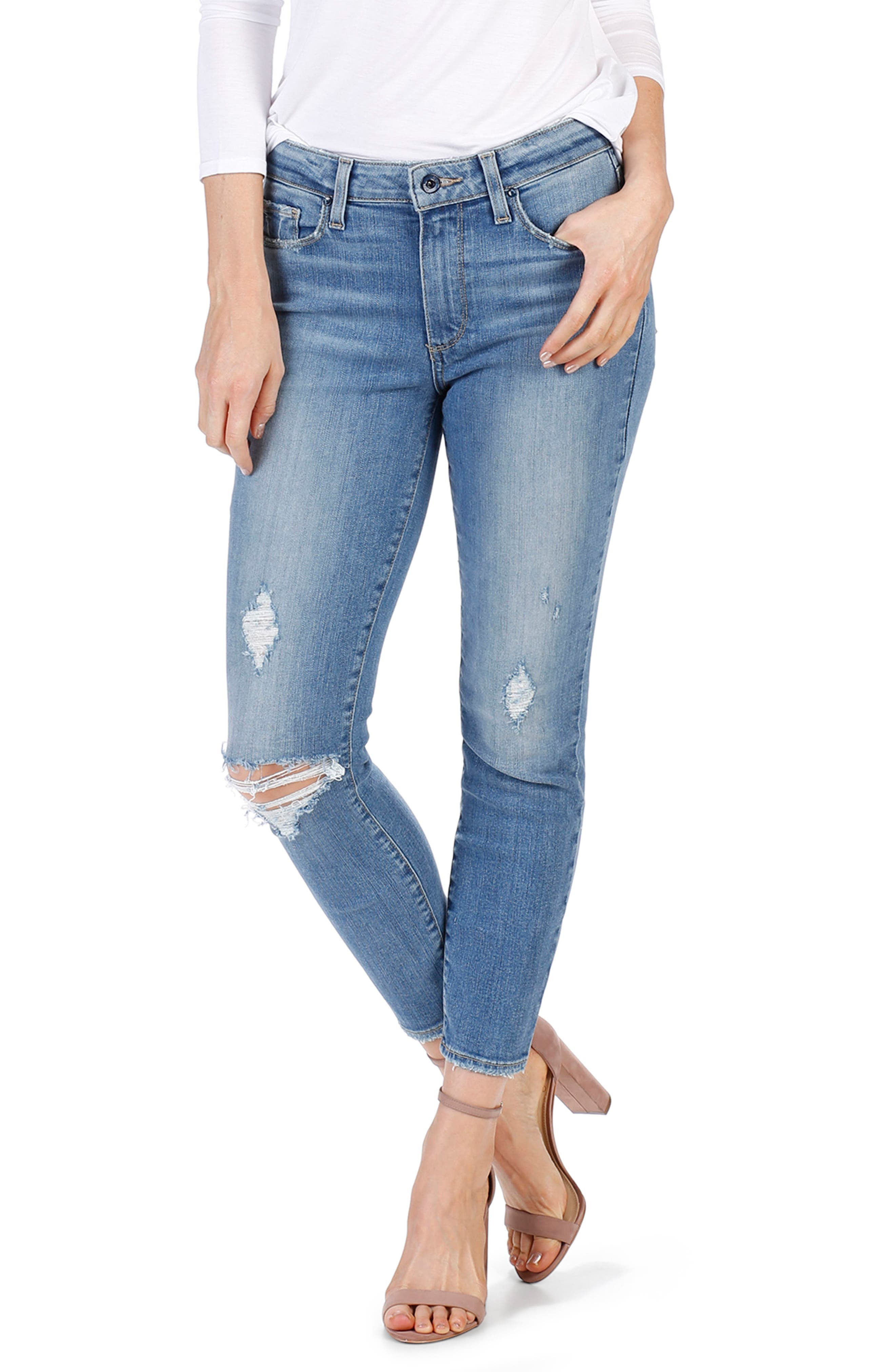 Transcend Vintage - Hoxton High Waist Crop Jeans,                             Alternate thumbnail 2, color,                             400